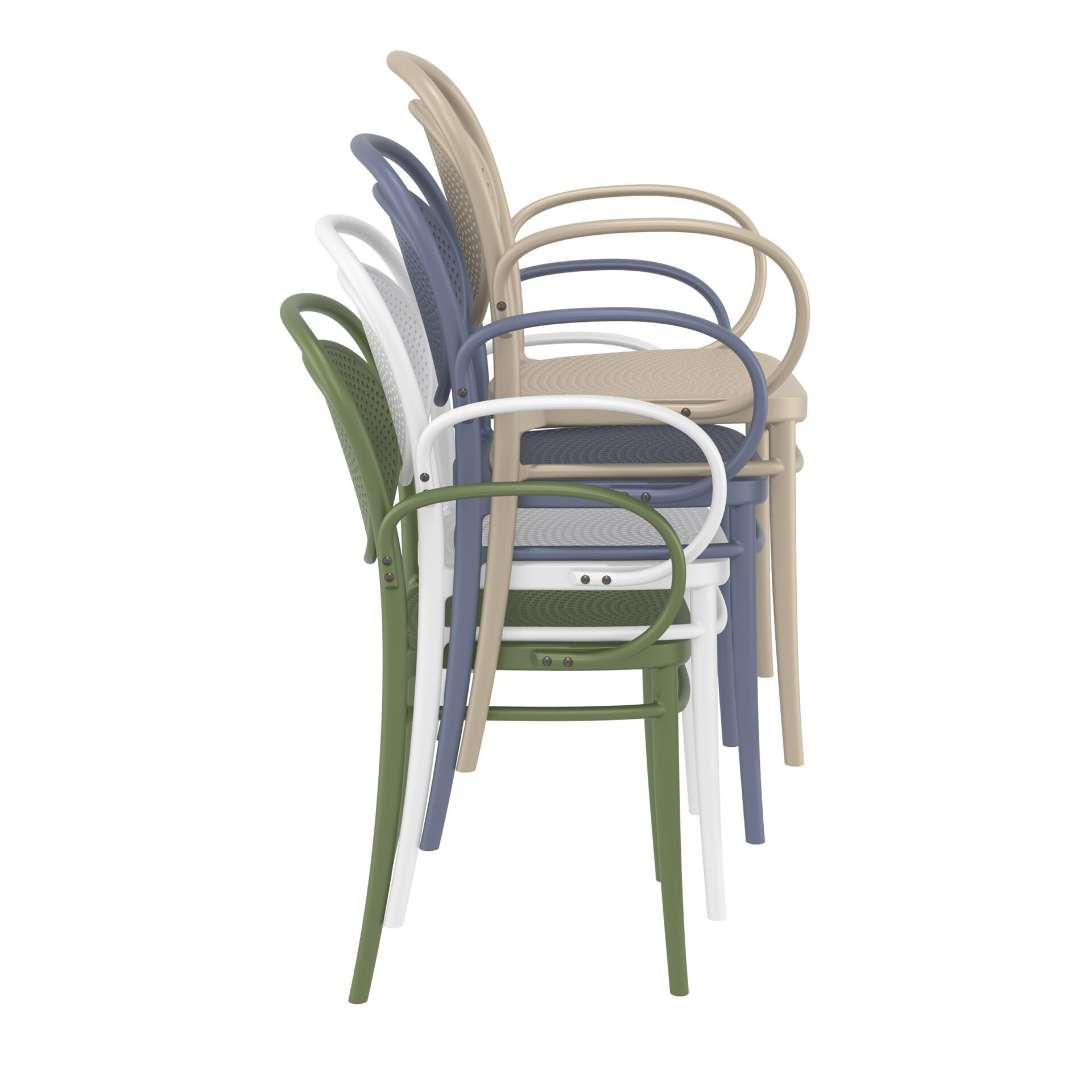 restaurant plastic dining marcel xl armchair stack