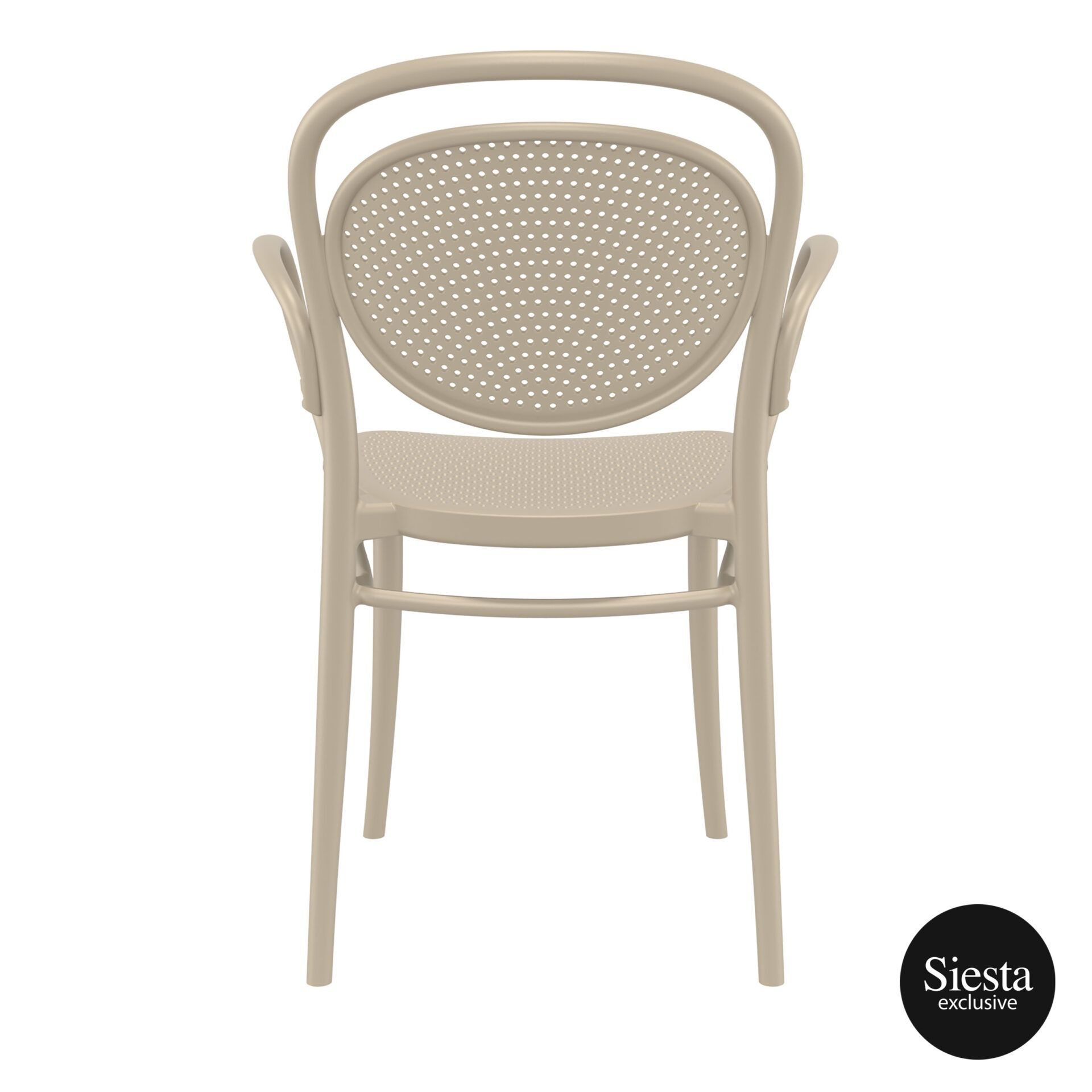 restaurant plastic dining marcel xl armchair taupe back 1