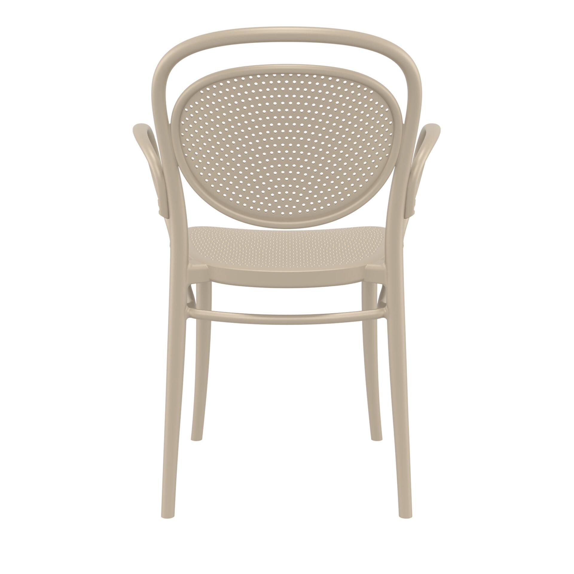 restaurant plastic dining marcel xl armchair taupe back