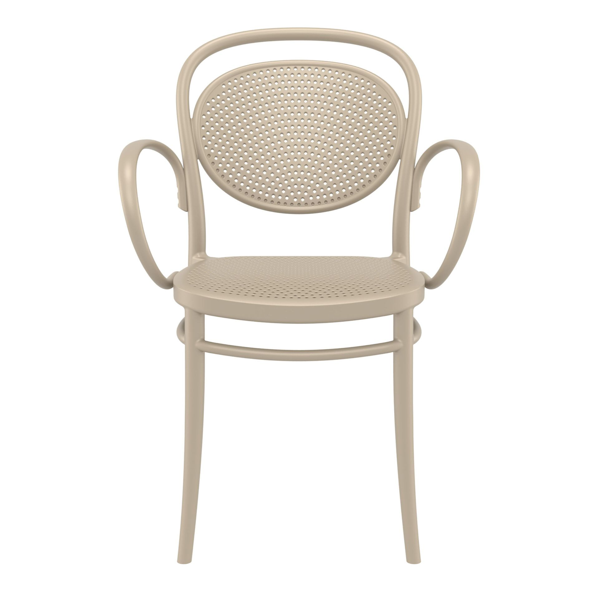 restaurant plastic dining marcel xl armchair taupe front