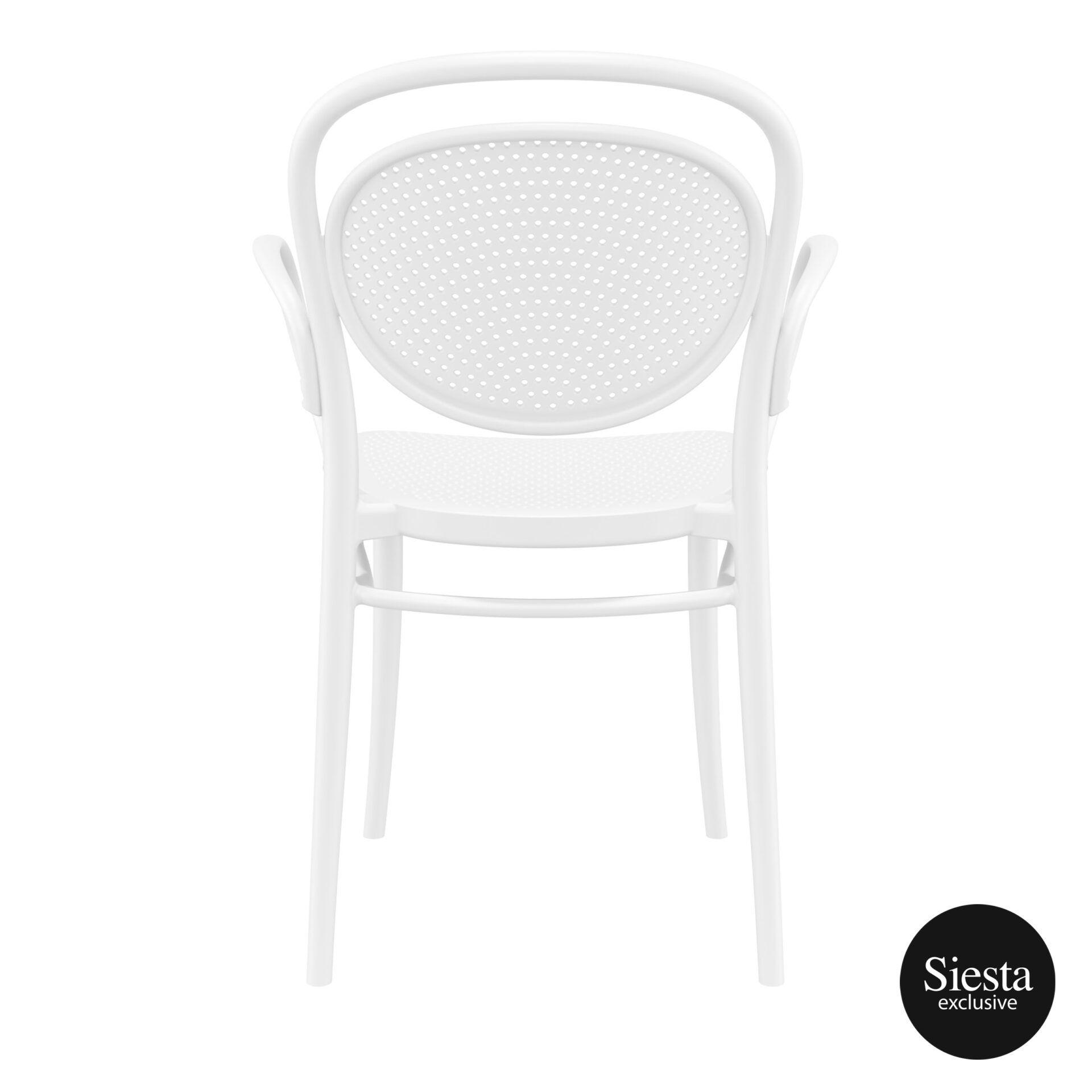 restaurant plastic dining marcel xl armchair white back 1