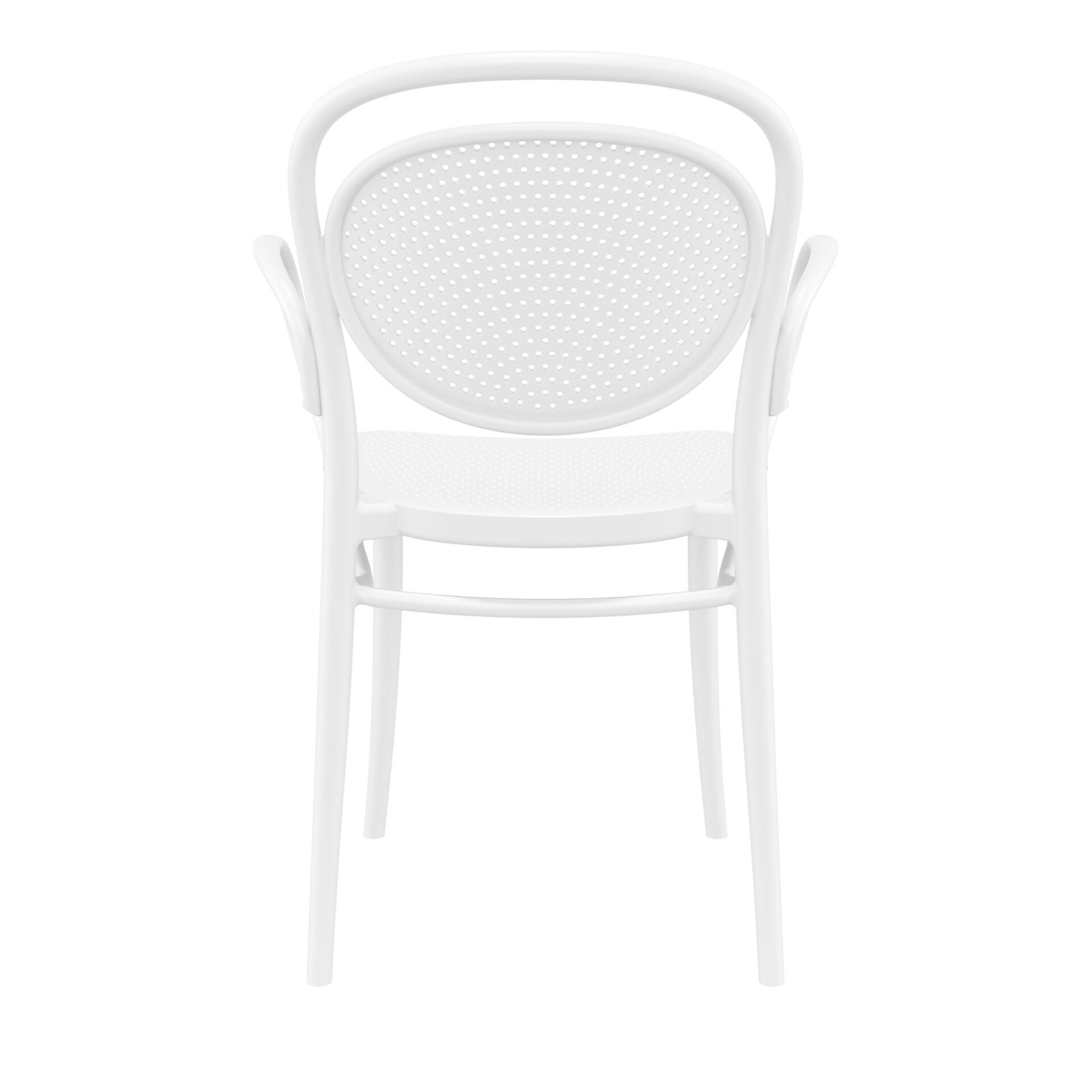 restaurant plastic dining marcel xl armchair white back