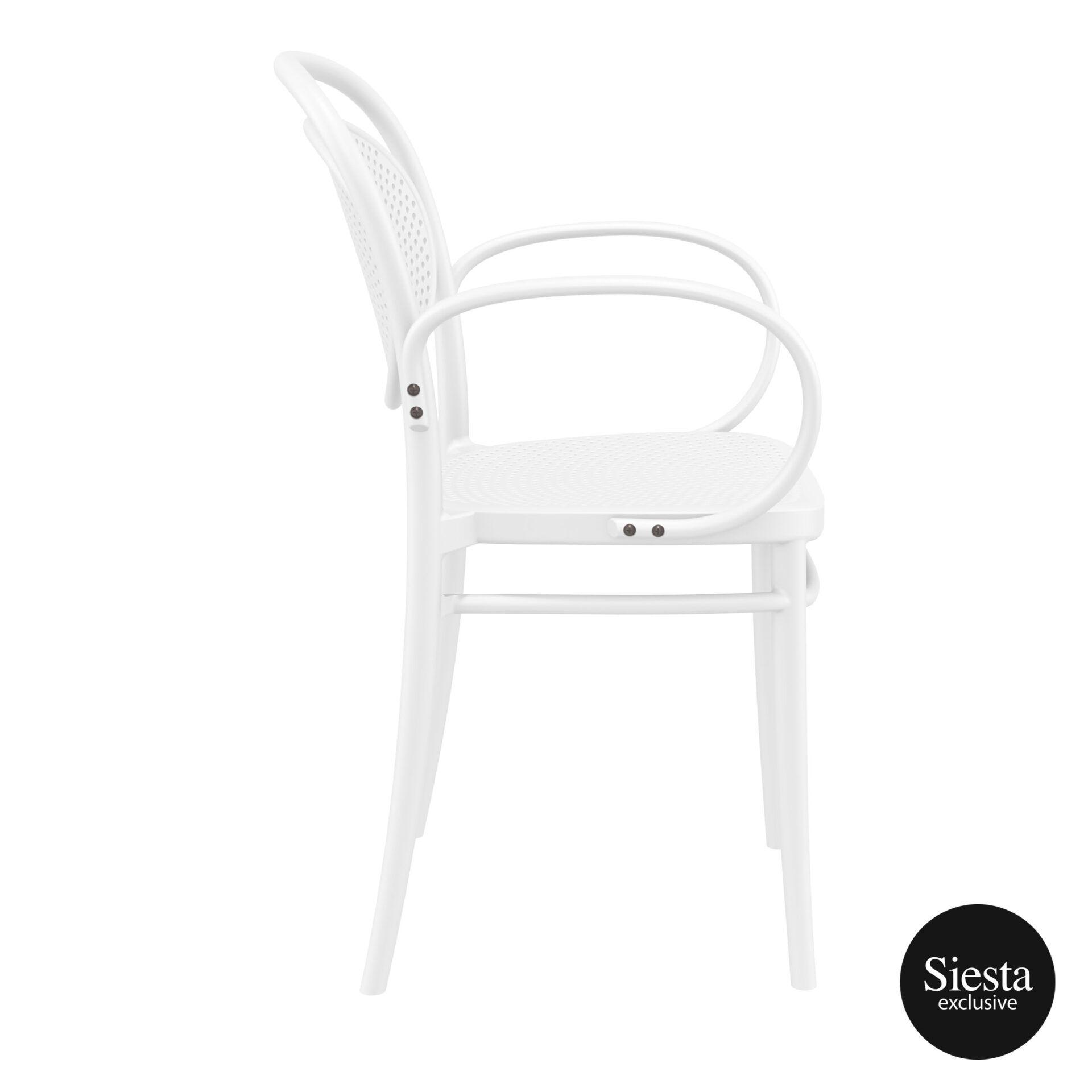 restaurant plastic dining marcel xl armchair white side 1