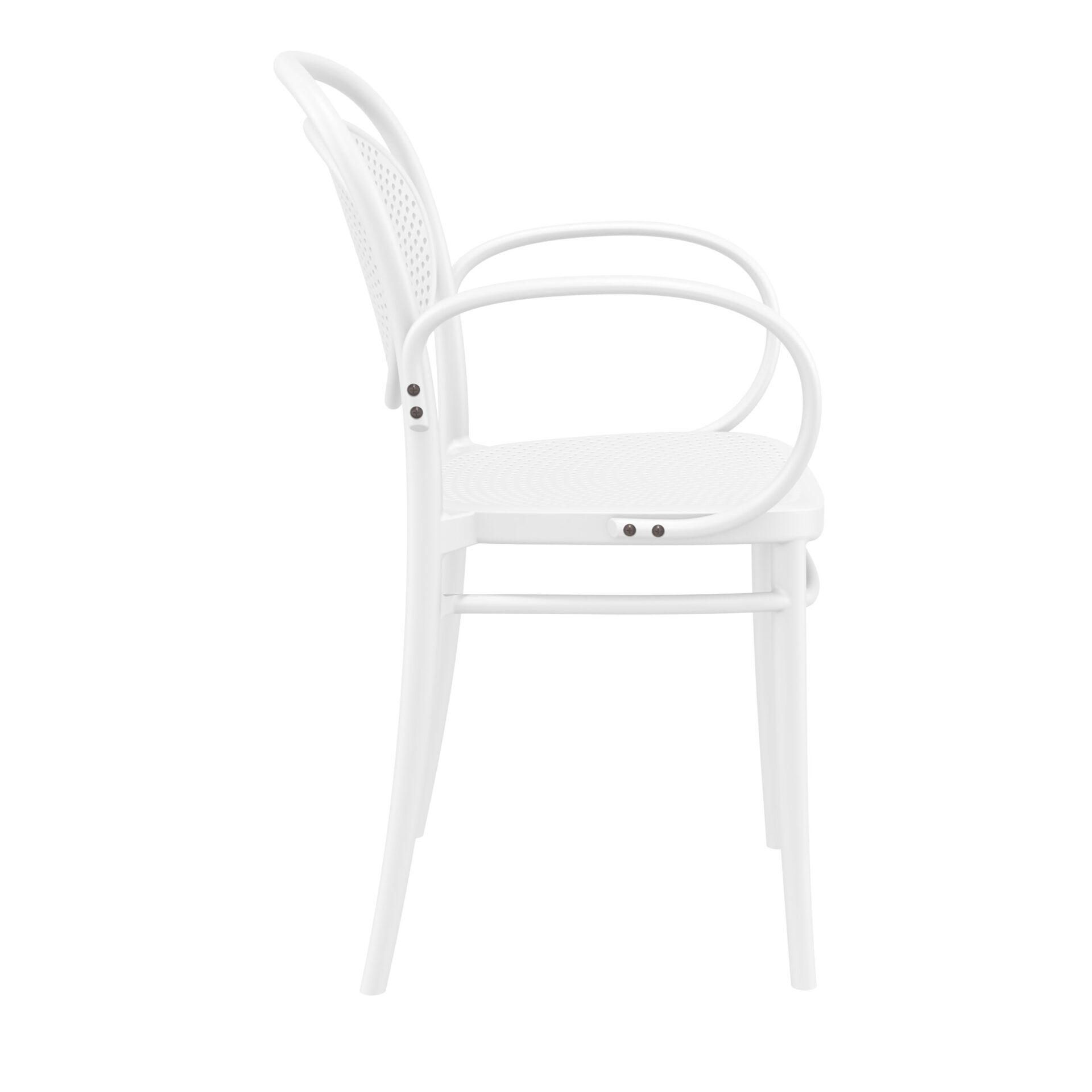 restaurant plastic dining marcel xl armchair white side