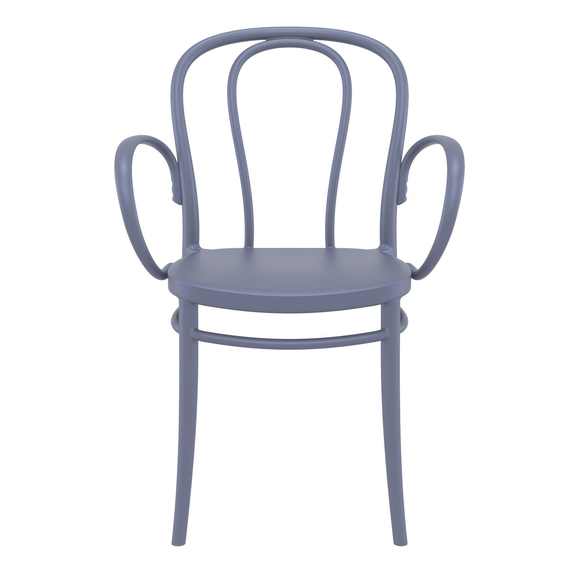 restaurant seating polypropylene victor armchair 008 victor xl darkgrey front