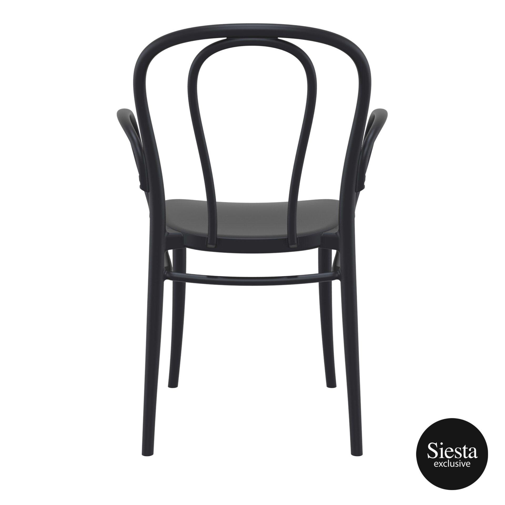 restaurant seating polypropylene victor armchair black back 1