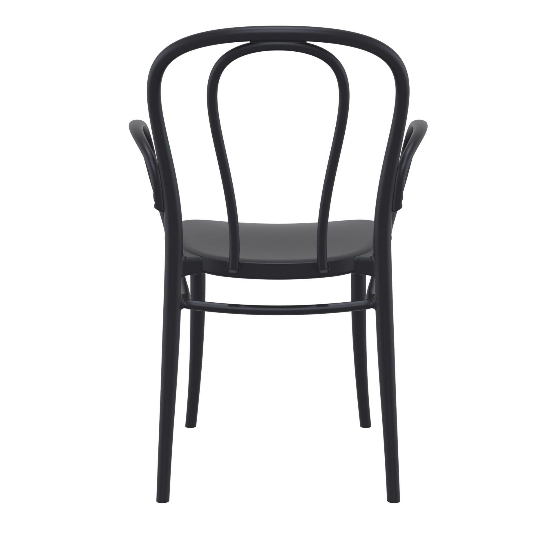 restaurant seating polypropylene victor armchair black back