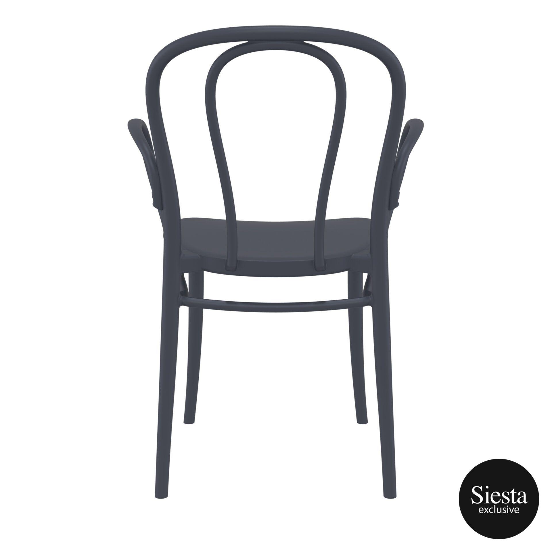 restaurant seating polypropylene victor armchair darkgrey back 2