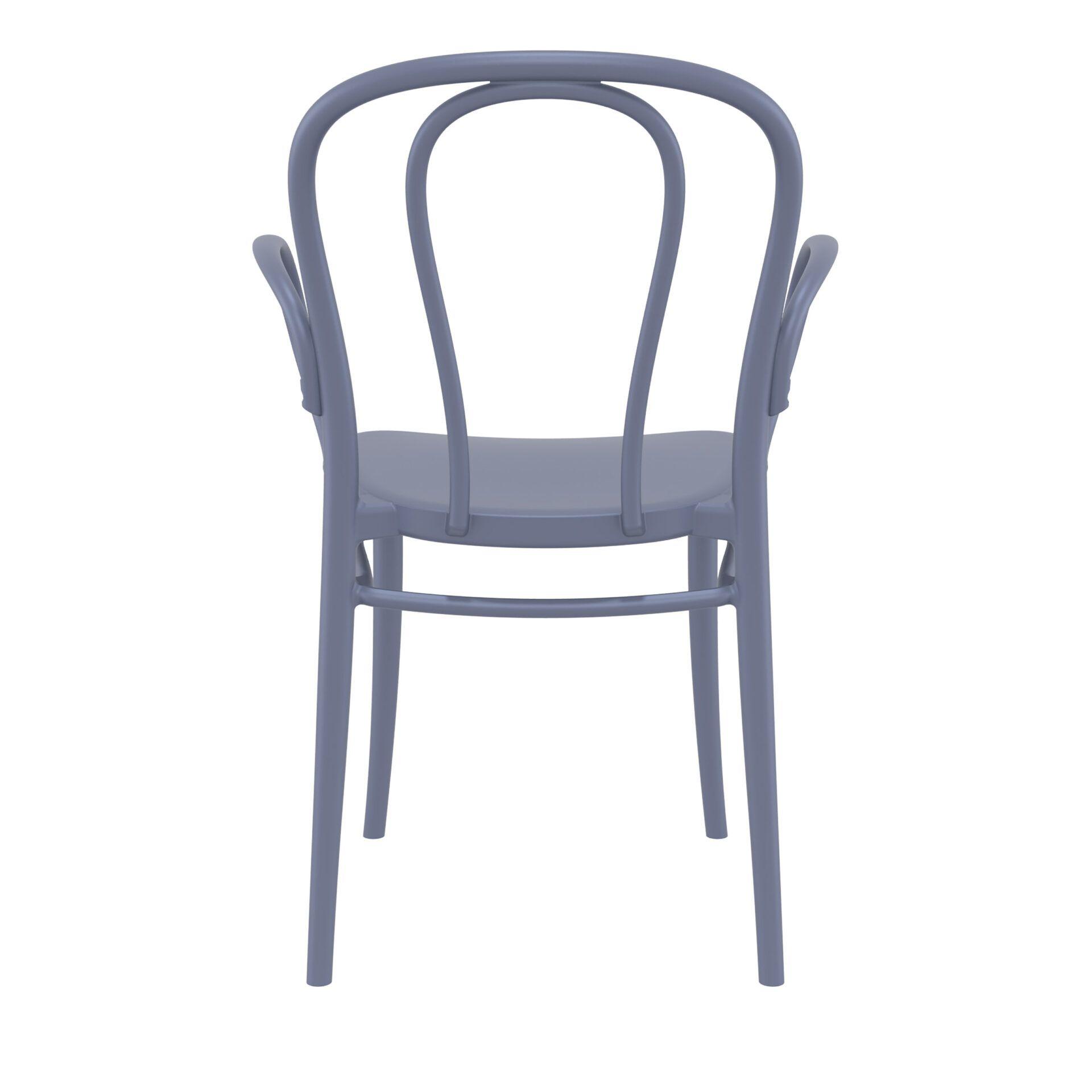 restaurant seating polypropylene victor armchair darkgrey back