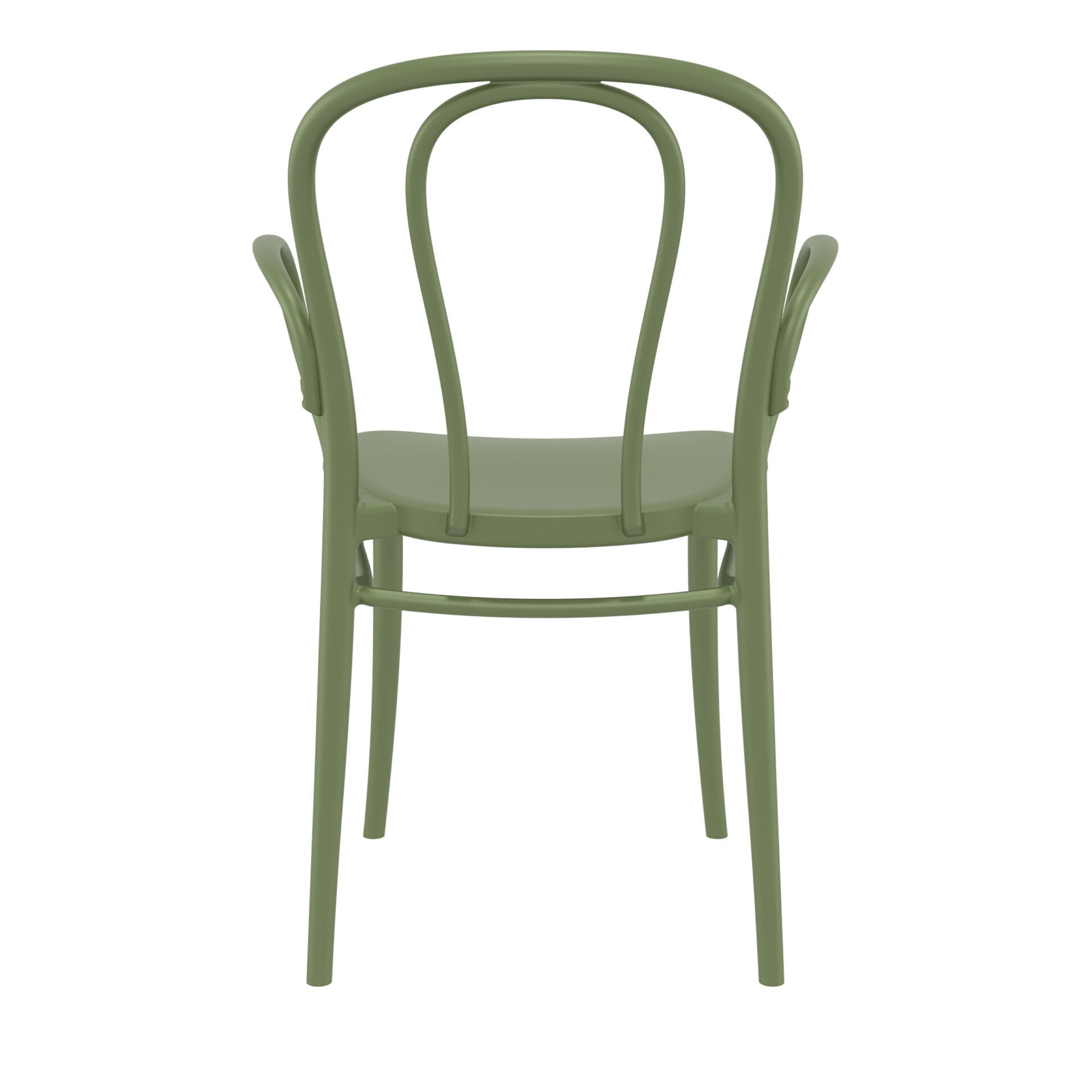 restaurant seating polypropylene victor armchair olive green back