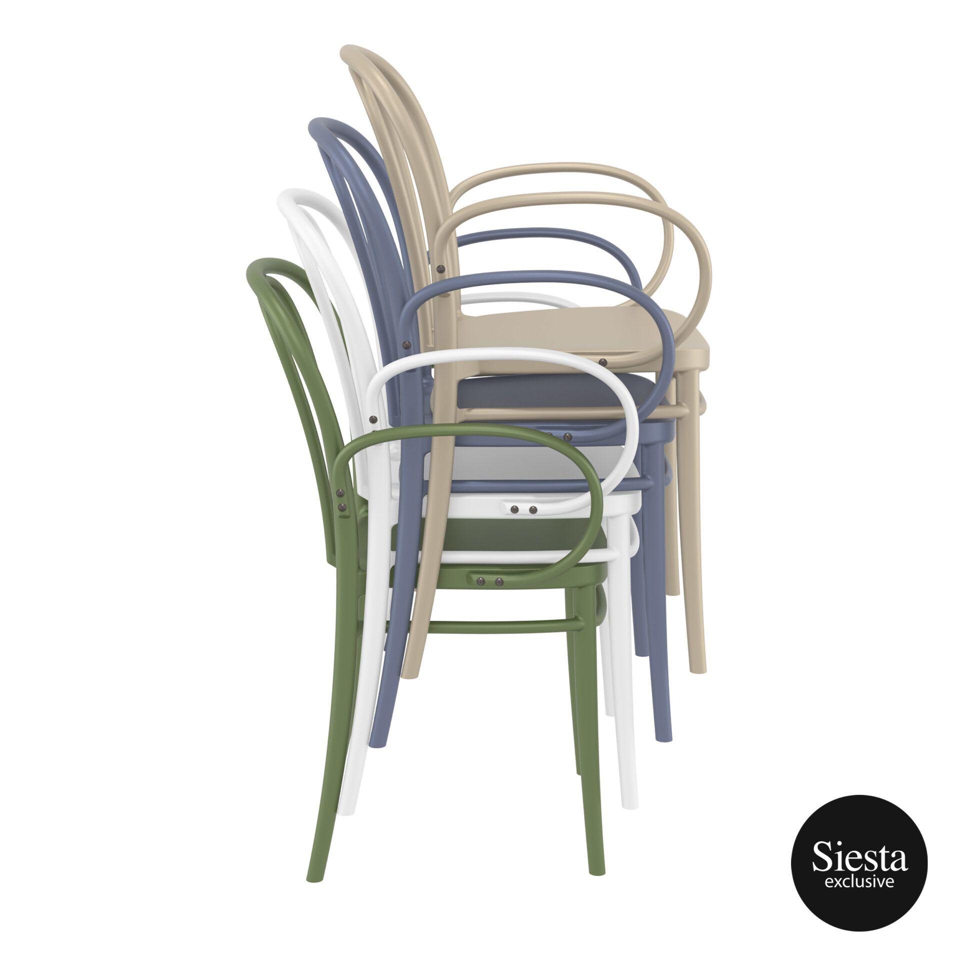 restaurant seating polypropylene victor armchair stack 2
