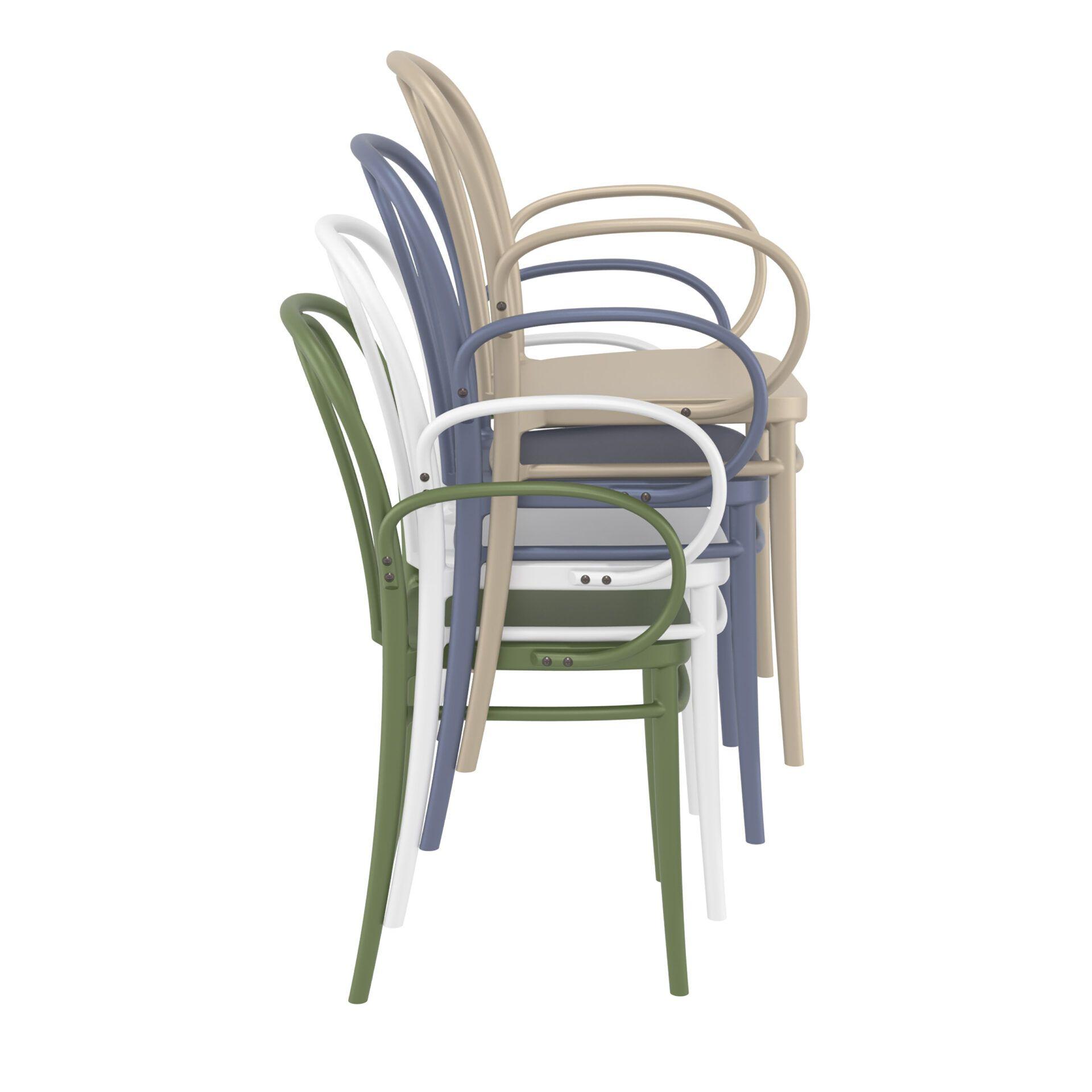 restaurant seating polypropylene victor armchair stack