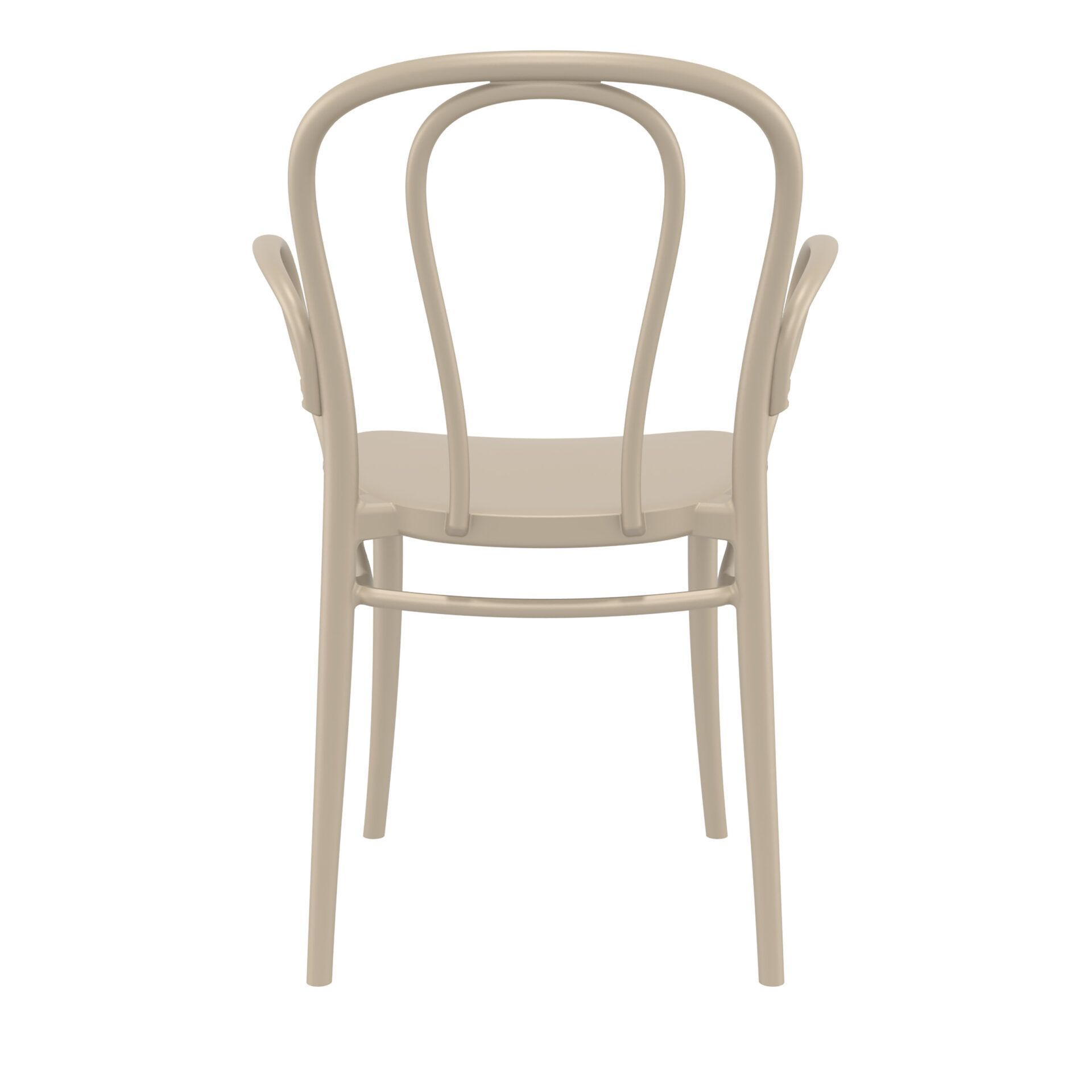 restaurant seating polypropylene victor armchair taupe back