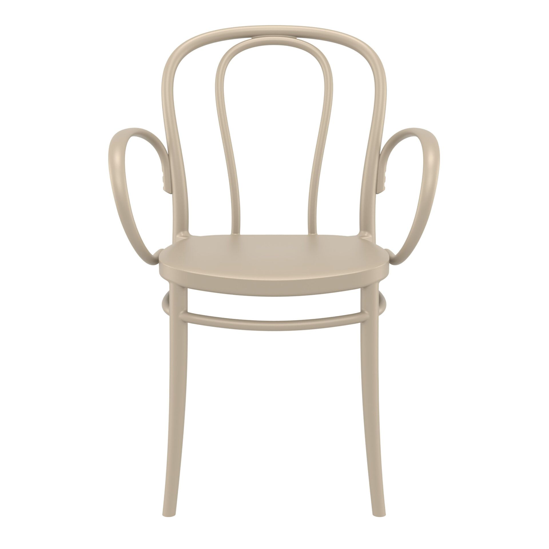 restaurant seating polypropylene victor armchair taupe front