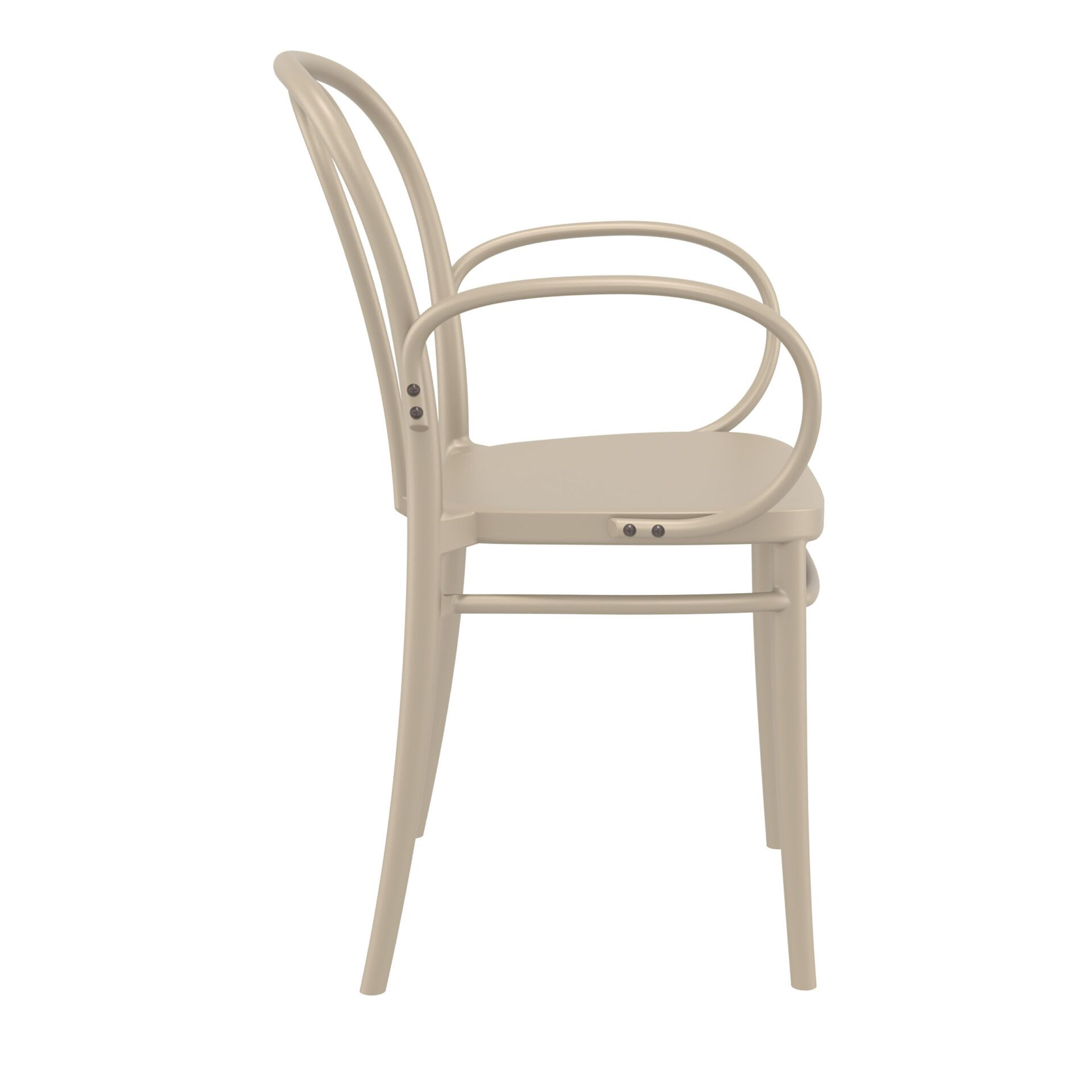 restaurant seating polypropylene victor armchair taupe side