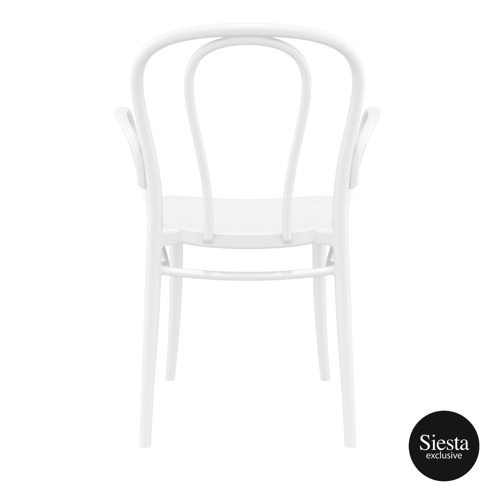 restaurant seating polypropylene victor armchair white back 1