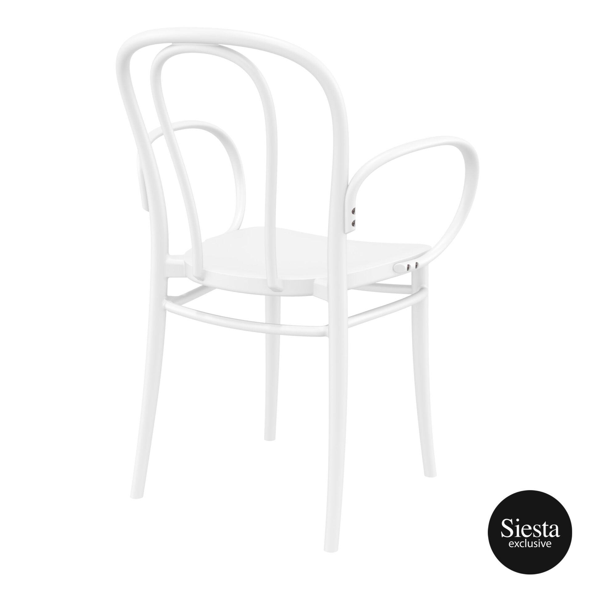 restaurant seating polypropylene victor armchair white back side 1