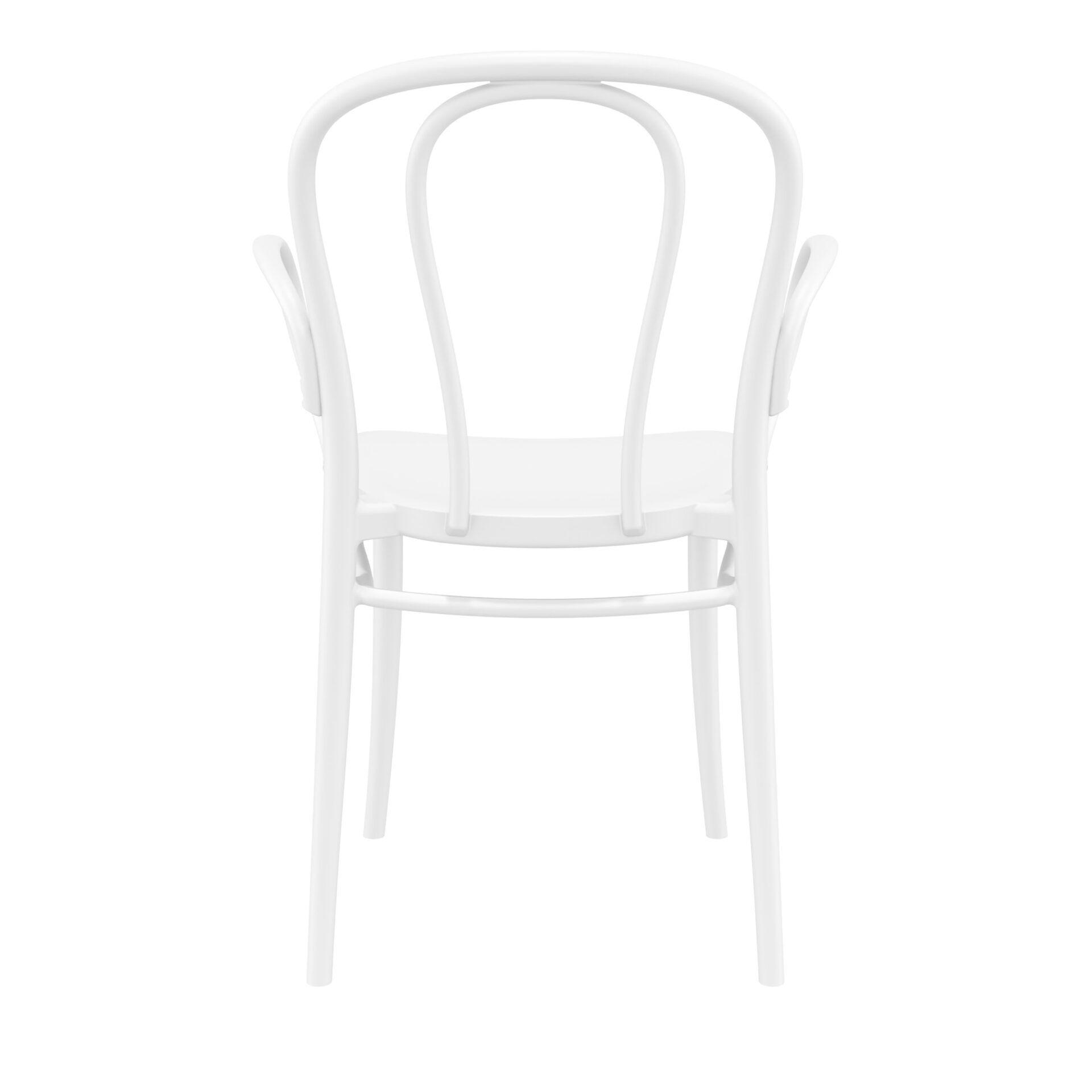 restaurant seating polypropylene victor armchair white back