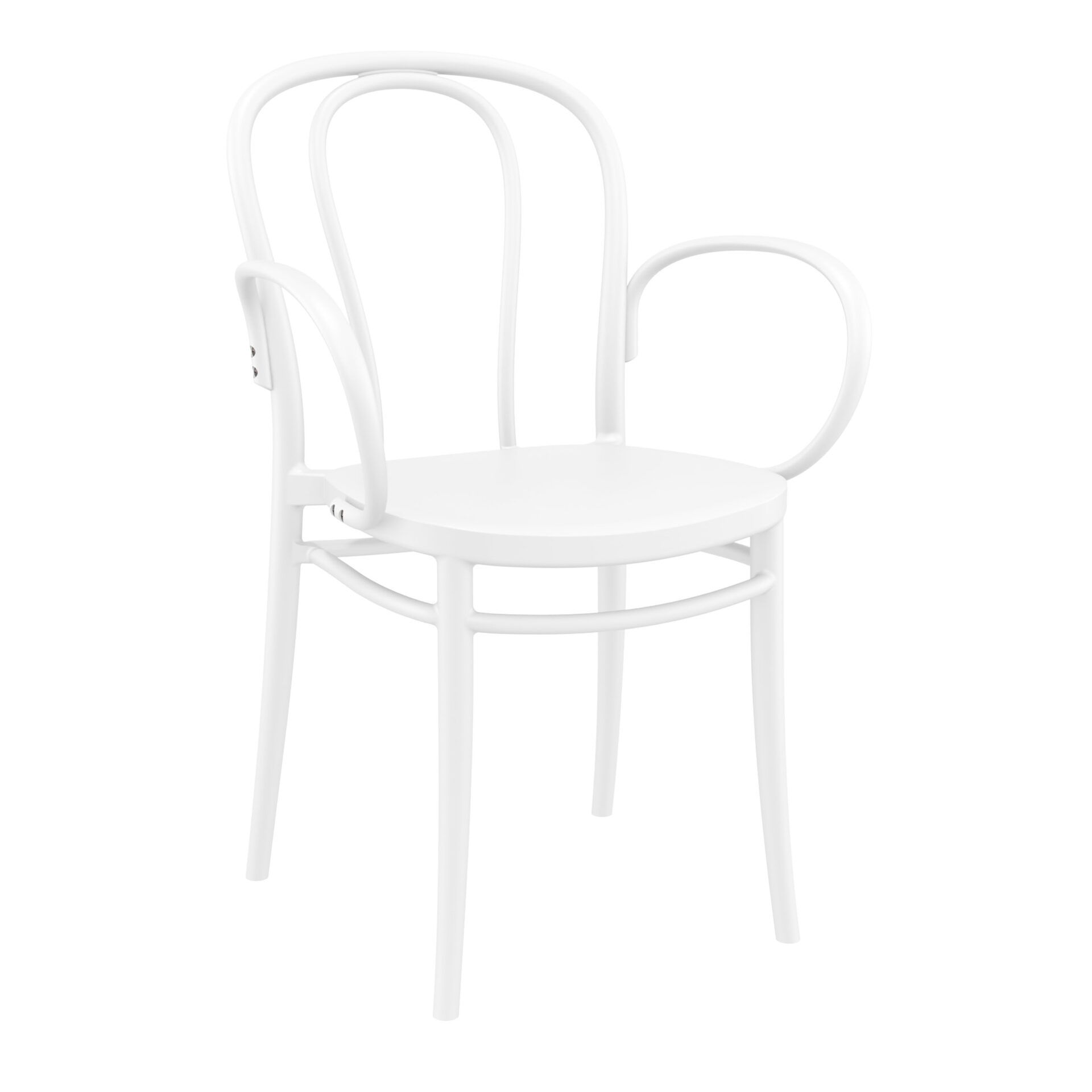 restaurant seating polypropylene victor armchair white front side