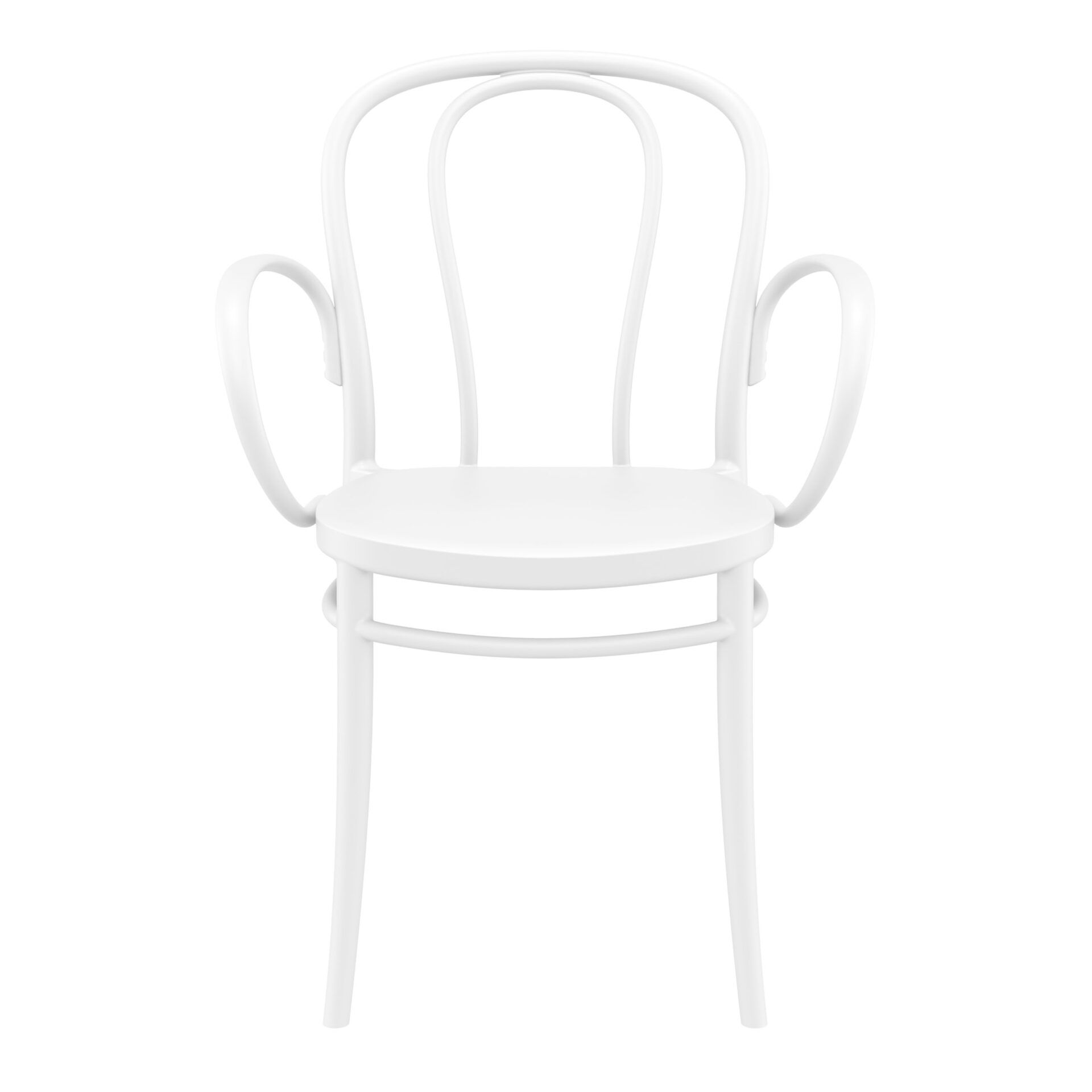 restaurant seating polypropylene victor armchair white front