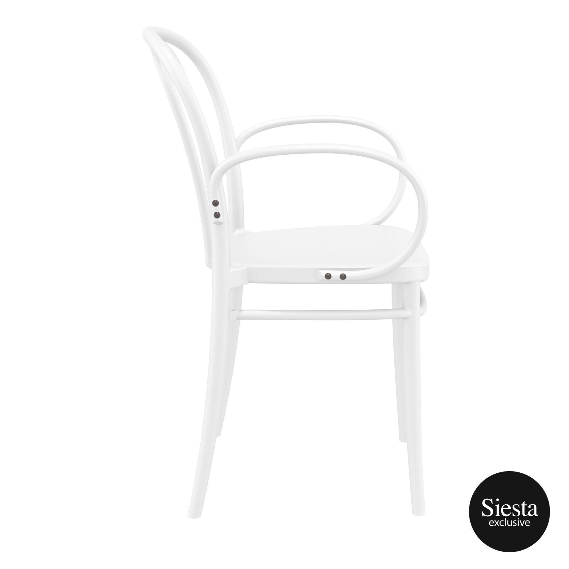 restaurant seating polypropylene victor armchair white side 1