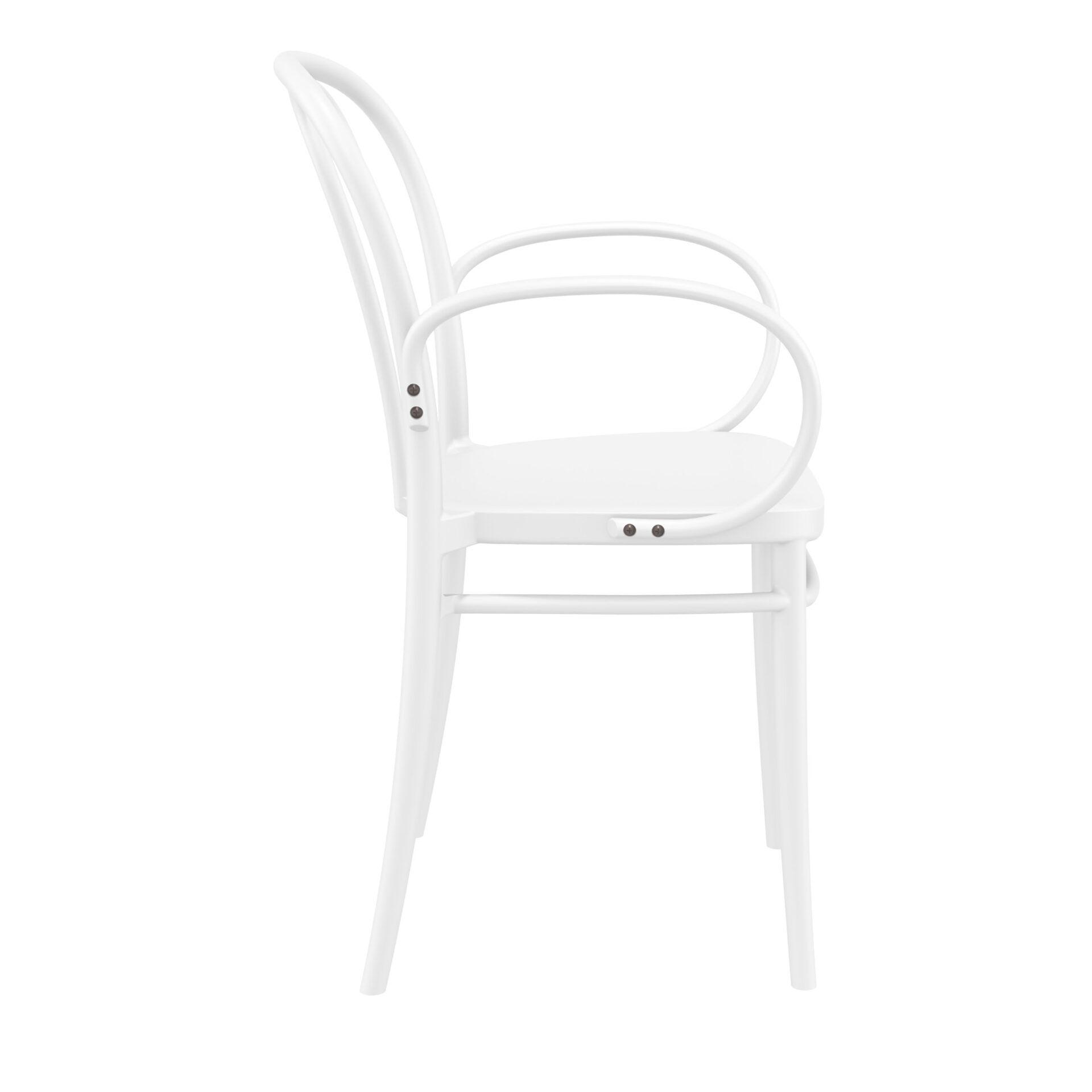 restaurant seating polypropylene victor armchair white side