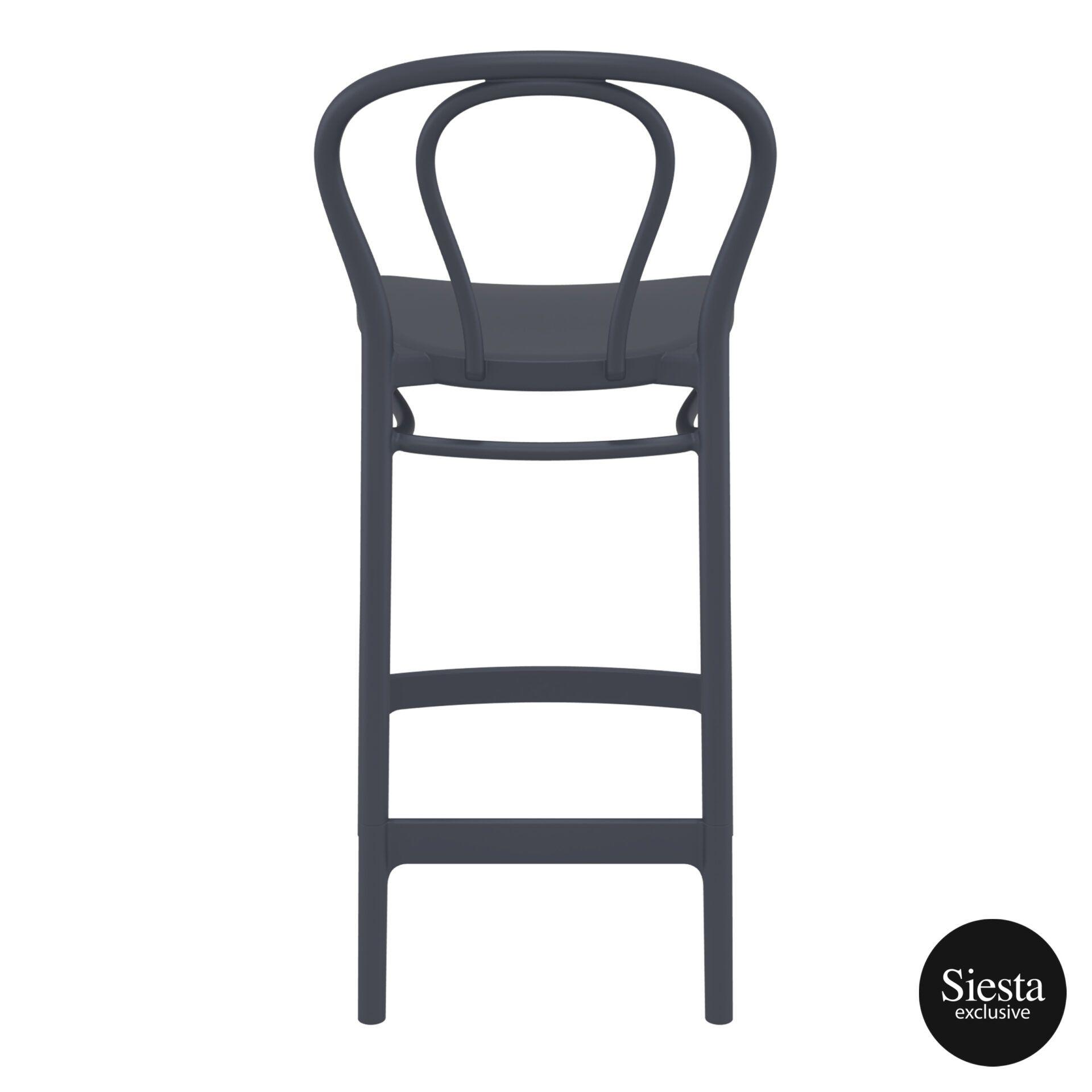 restaurant seating polypropylene victor barstool 65 darkgrey back 2