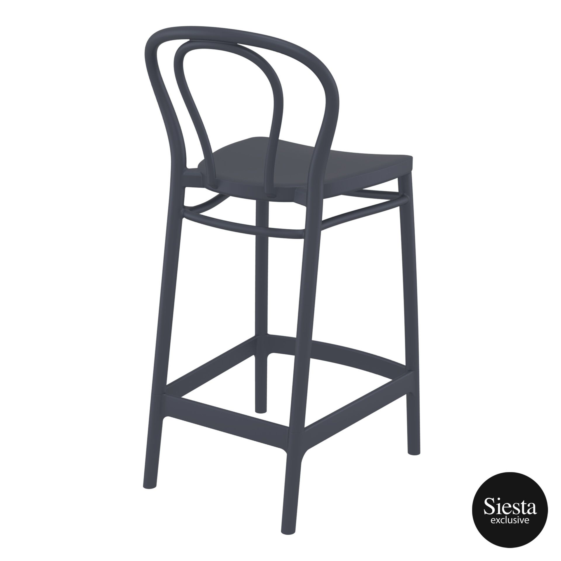 restaurant seating polypropylene victor barstool 65 darkgrey back side 2