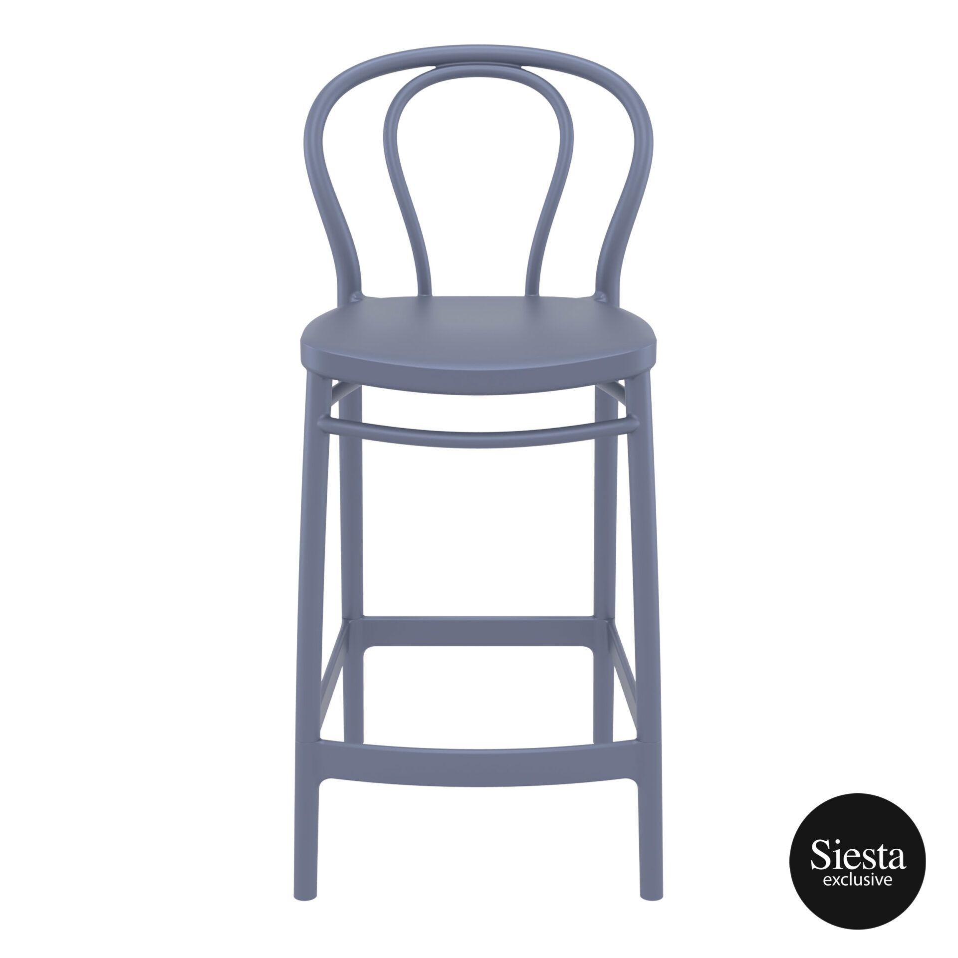 restaurant seating polypropylene victor barstool 65 darkgrey front 1