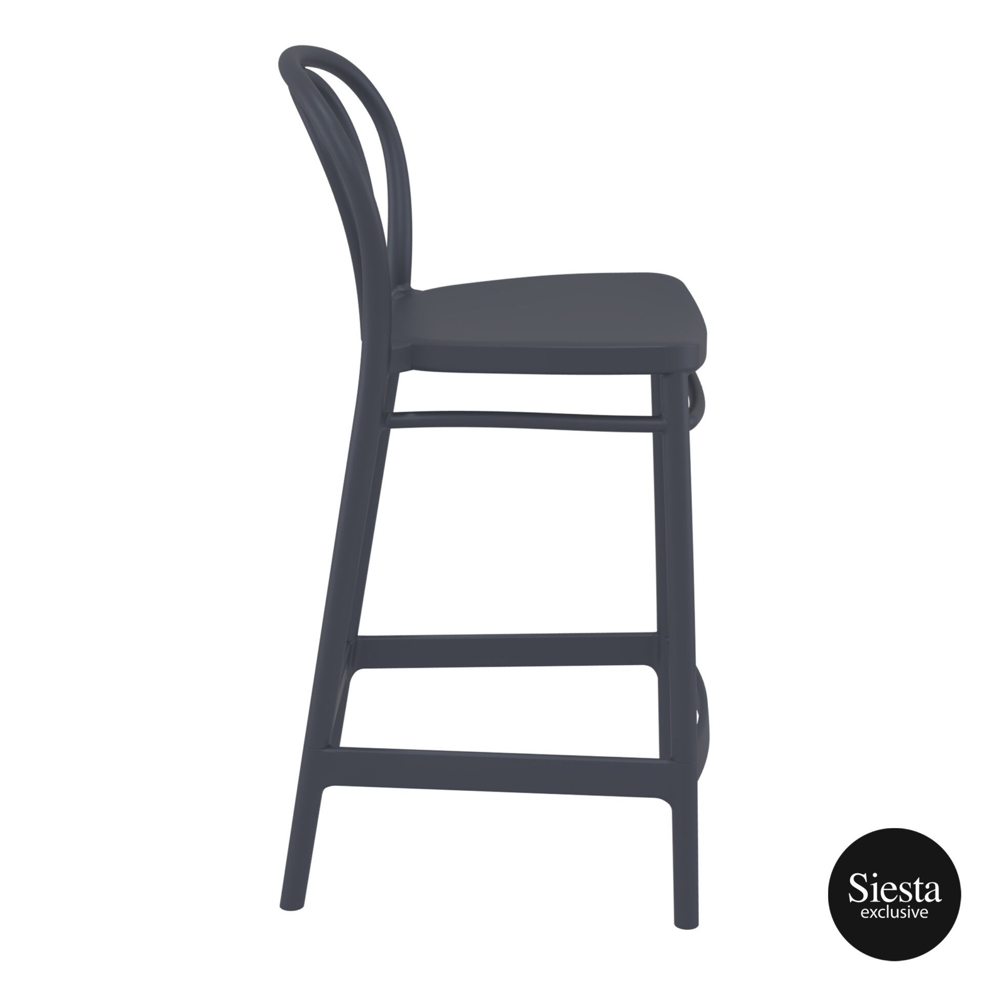 restaurant seating polypropylene victor barstool 65 darkgrey side 2