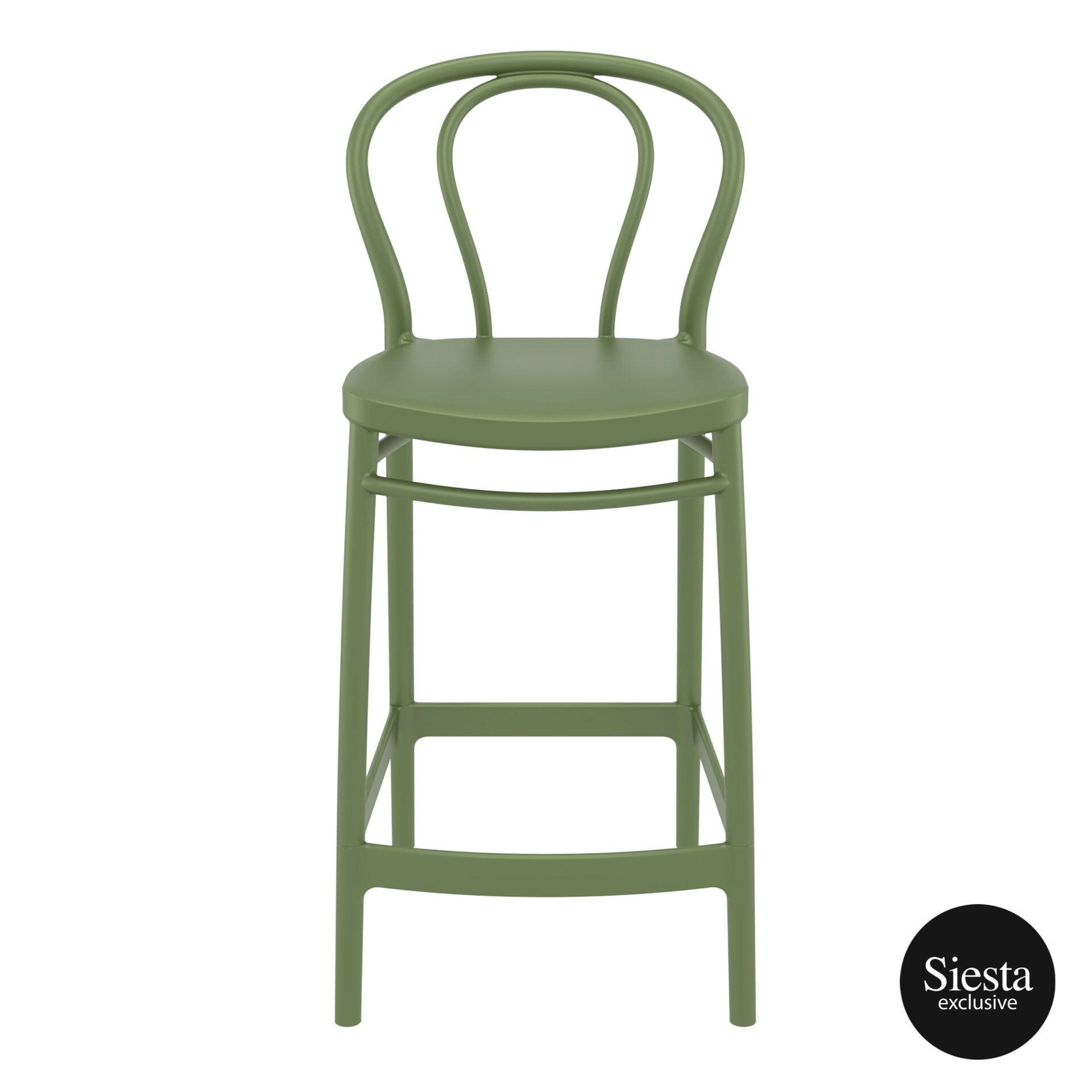 restaurant seating polypropylene victor barstool 65 olive green front 1