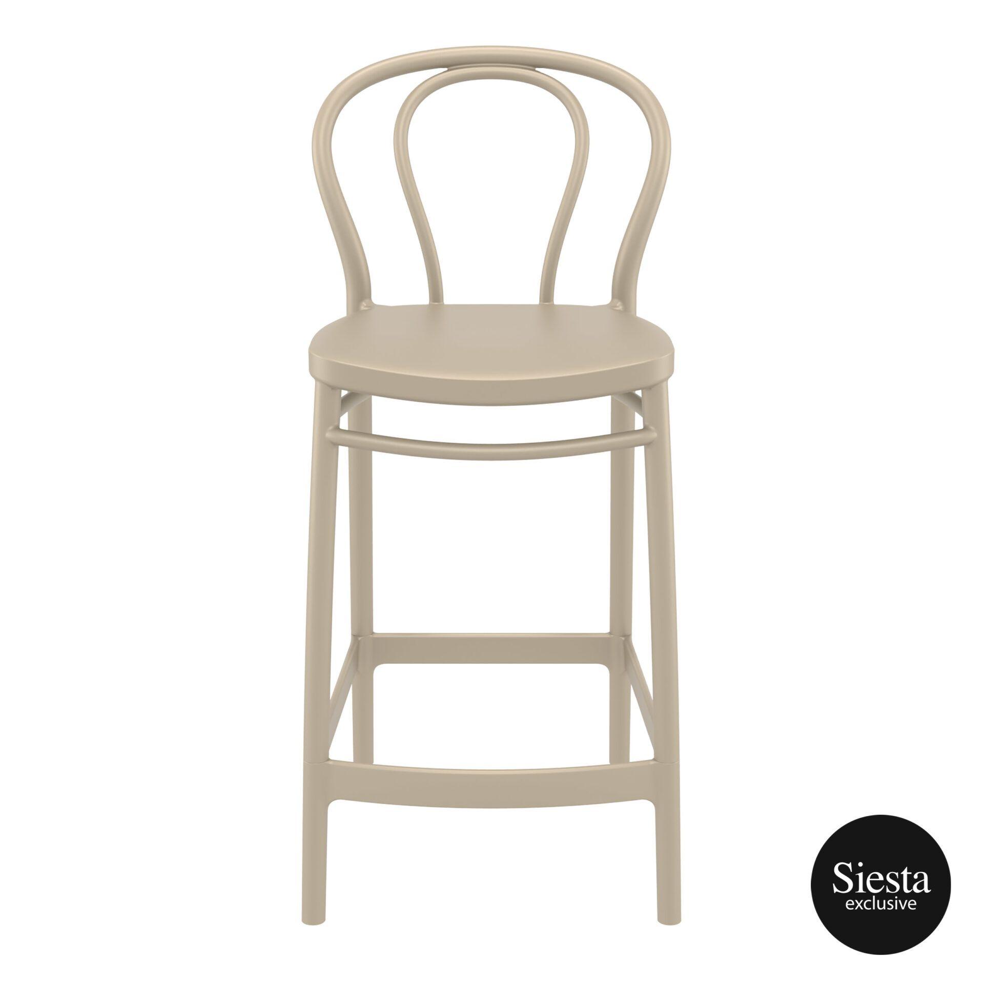 restaurant seating polypropylene victor barstool 65 taupe front 1