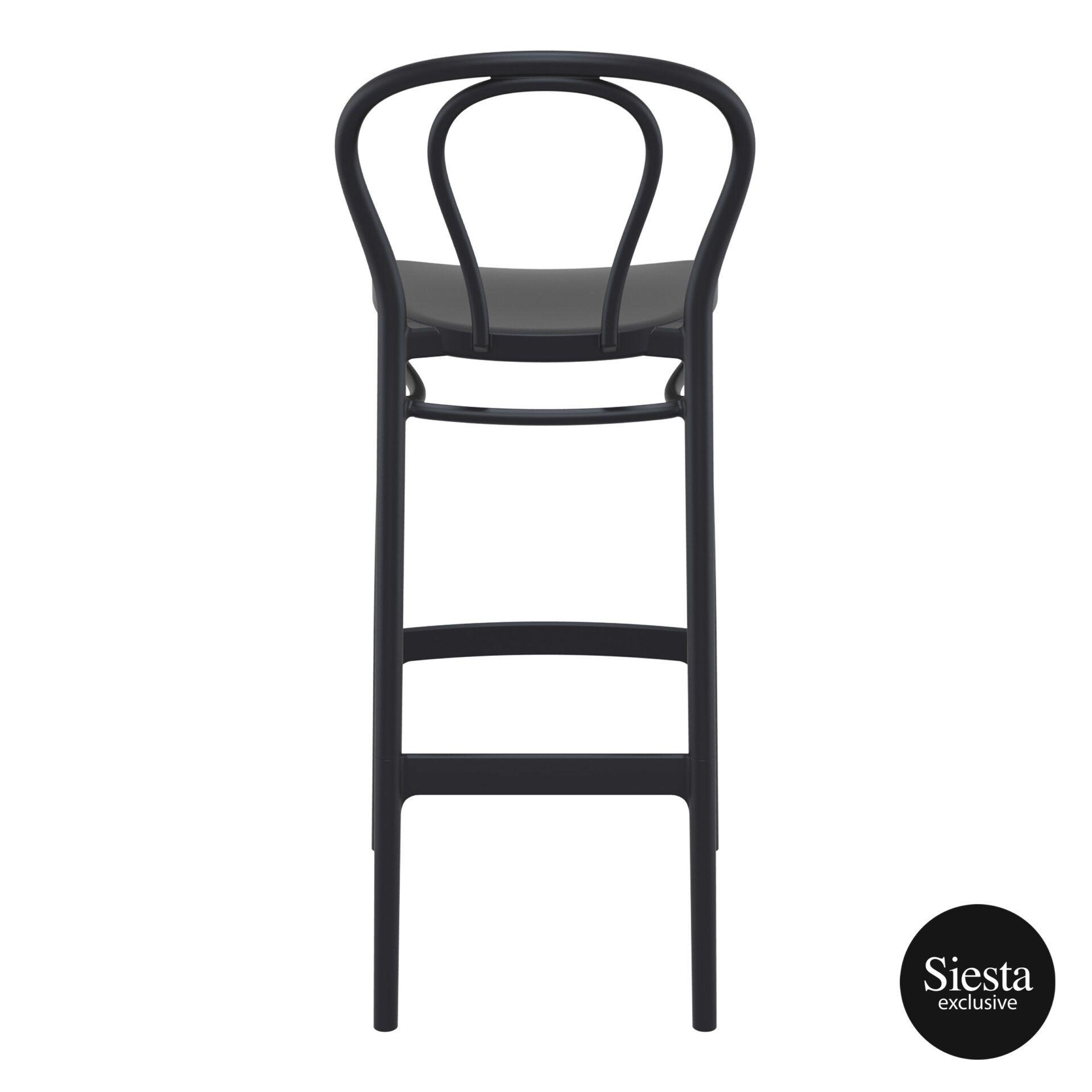 restaurant seating polypropylene victor barstool 75 black back 1