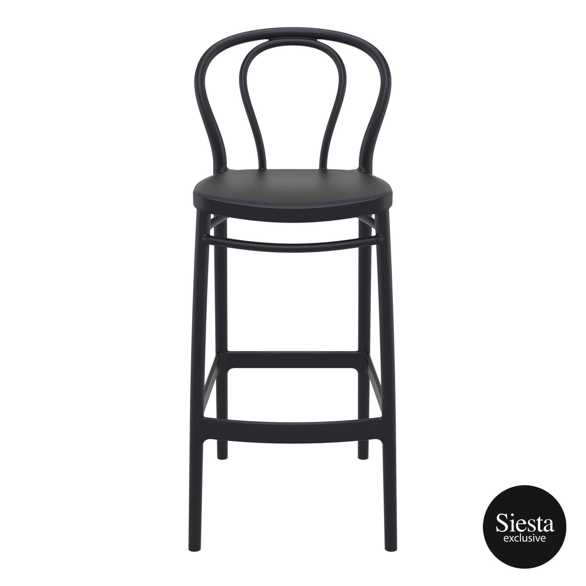 restaurant seating polypropylene victor barstool 75 black front 1