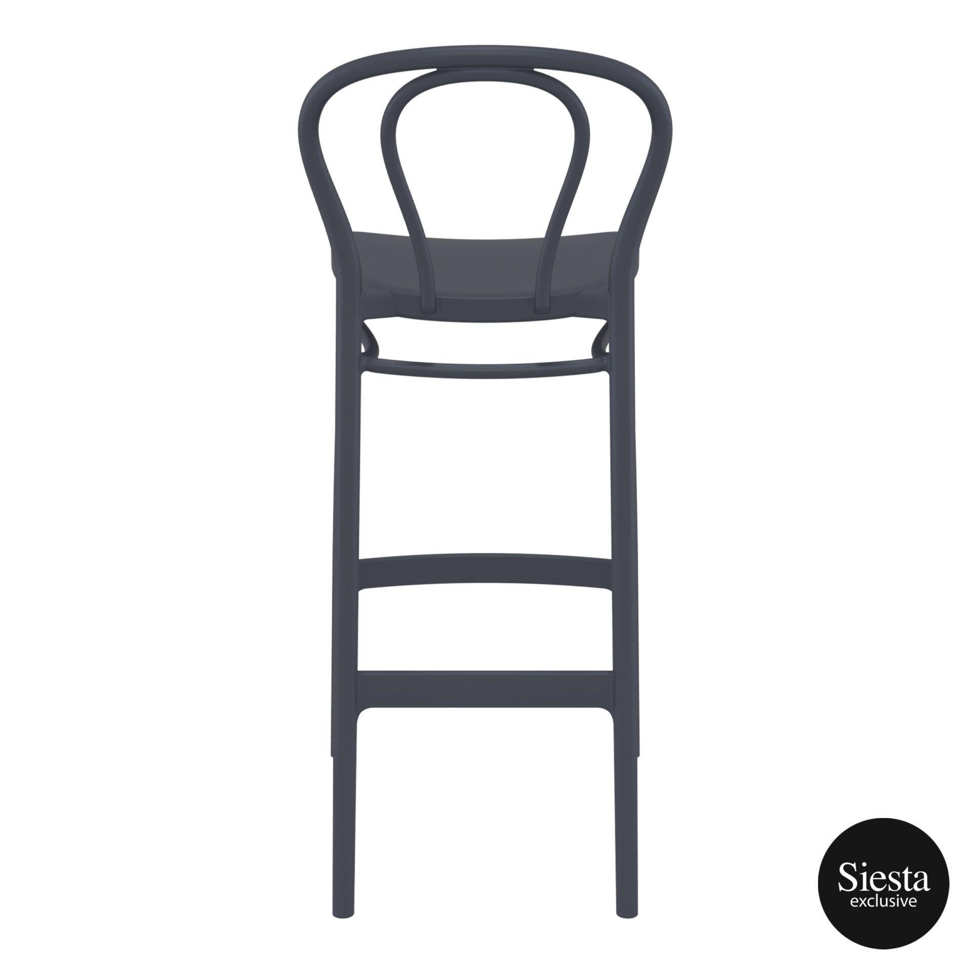 restaurant seating polypropylene victor barstool 75 darkgrey back 2