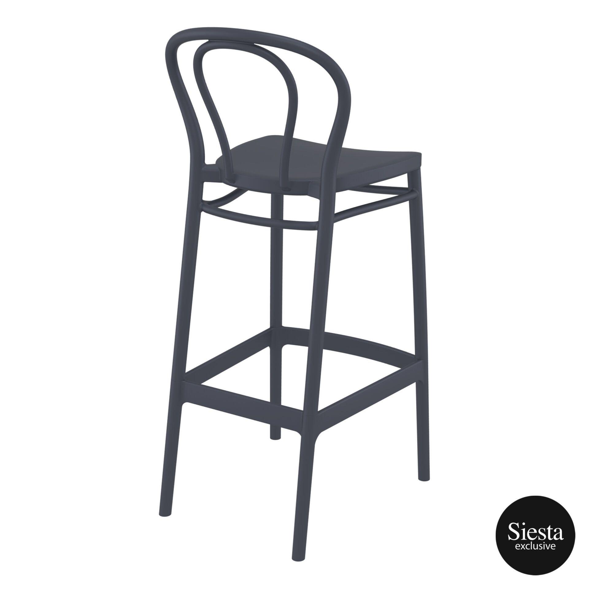 restaurant seating polypropylene victor barstool 75 darkgrey back side 2