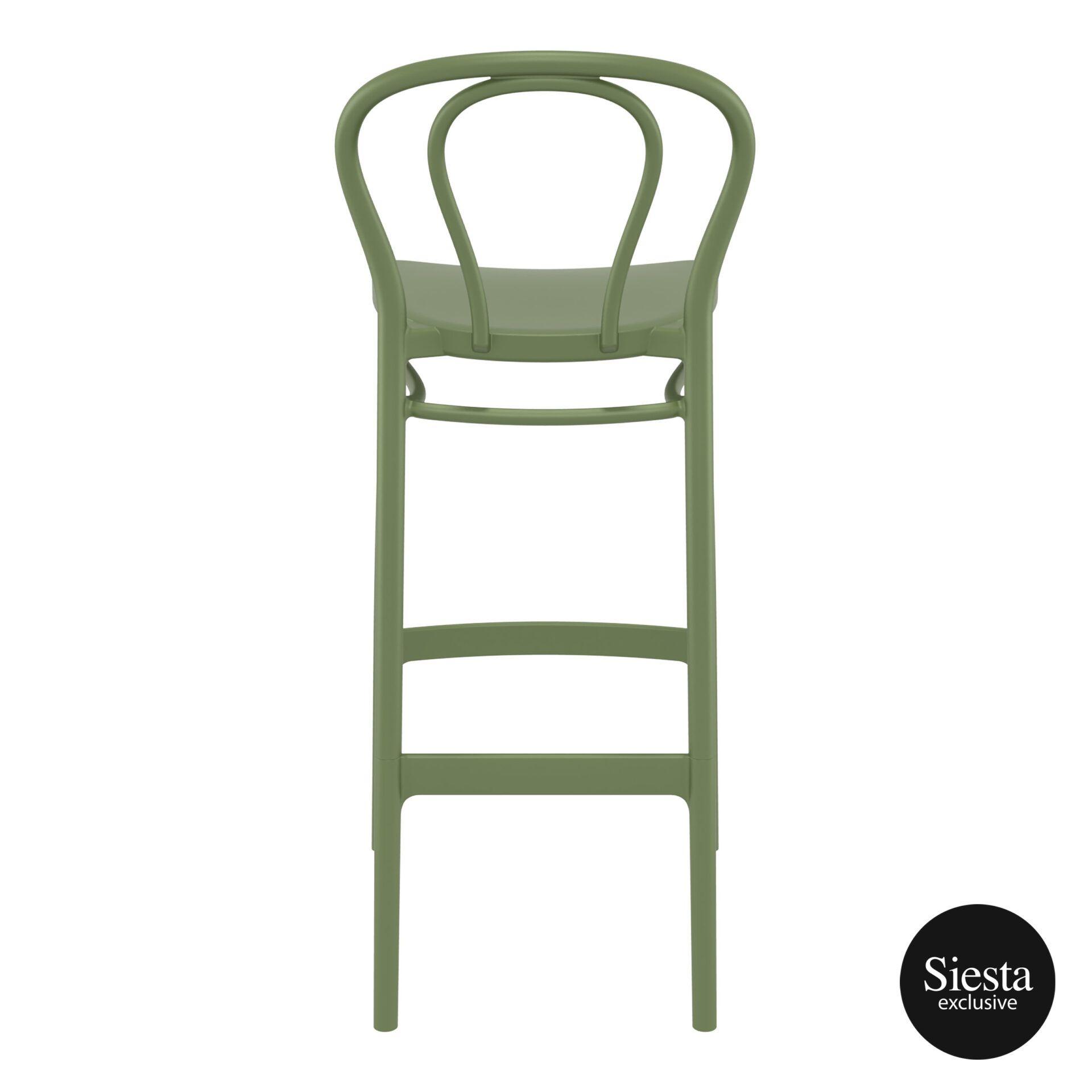 restaurant seating polypropylene victor barstool 75 olive green back 1