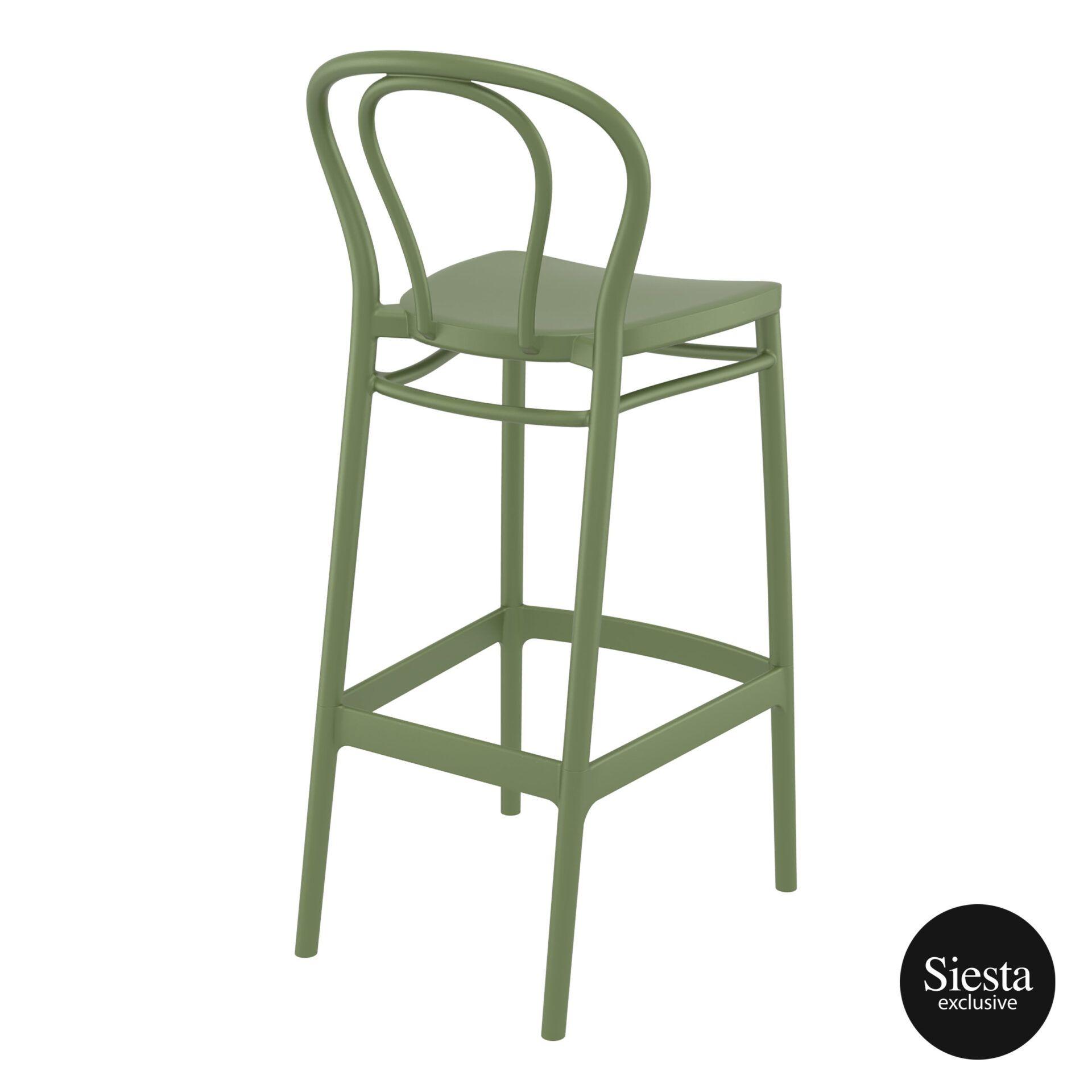 restaurant seating polypropylene victor barstool 75 olive green back side 1