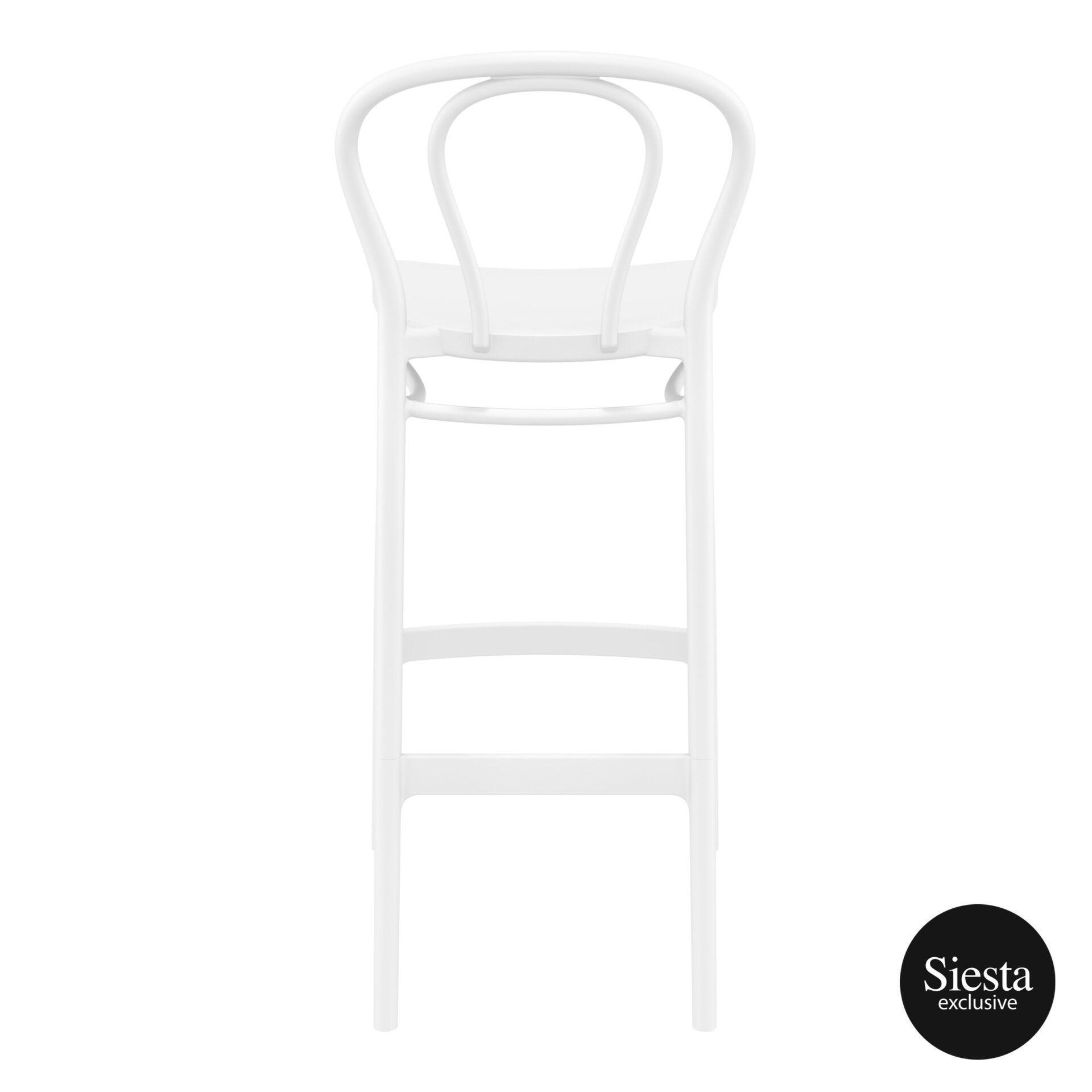 restaurant seating polypropylene victor barstool 75 white back 1