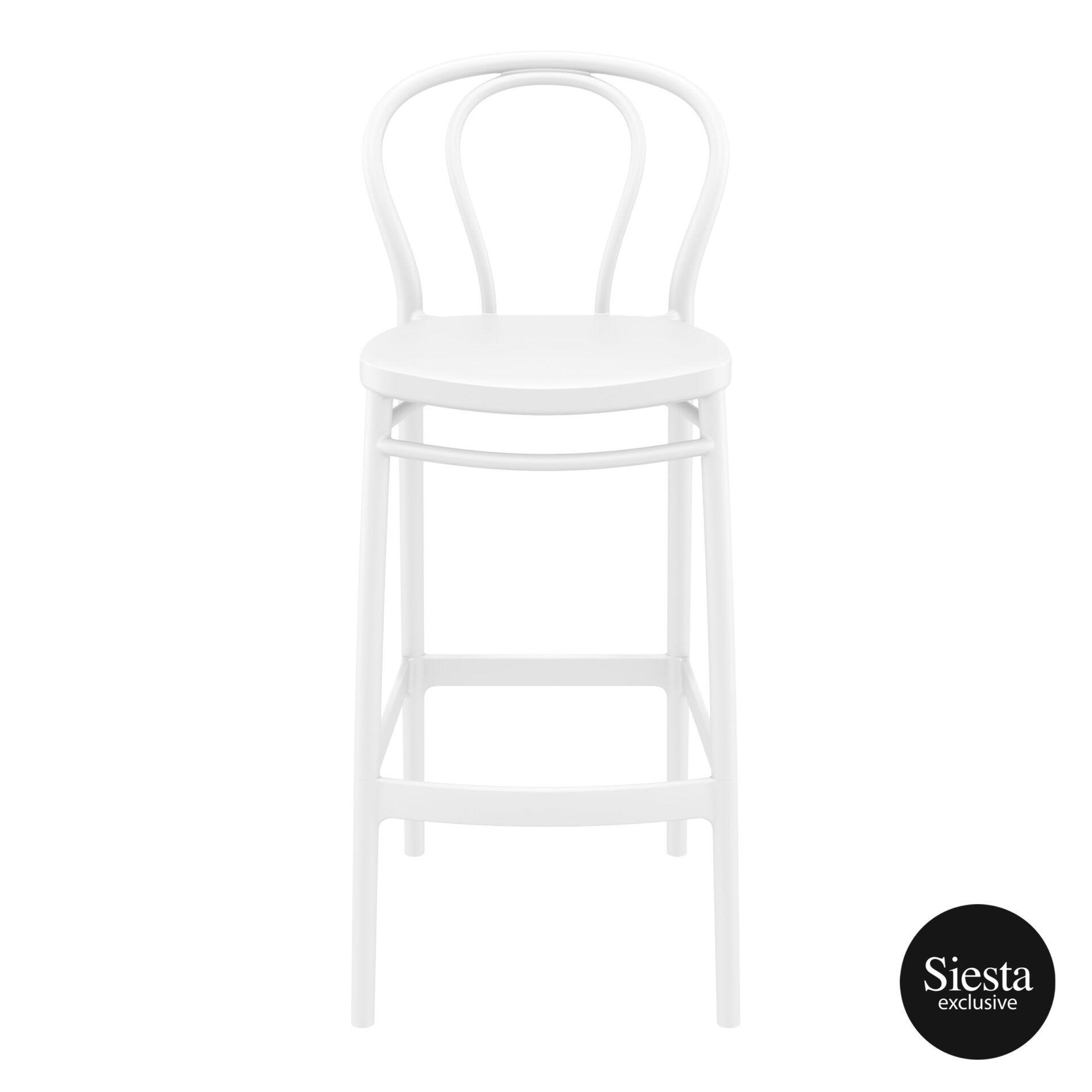 restaurant seating polypropylene victor barstool 75 white front 1