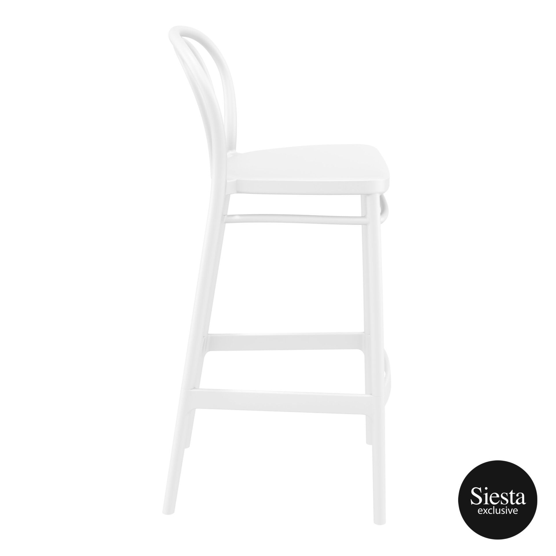 restaurant seating polypropylene victor barstool 75 white side 1