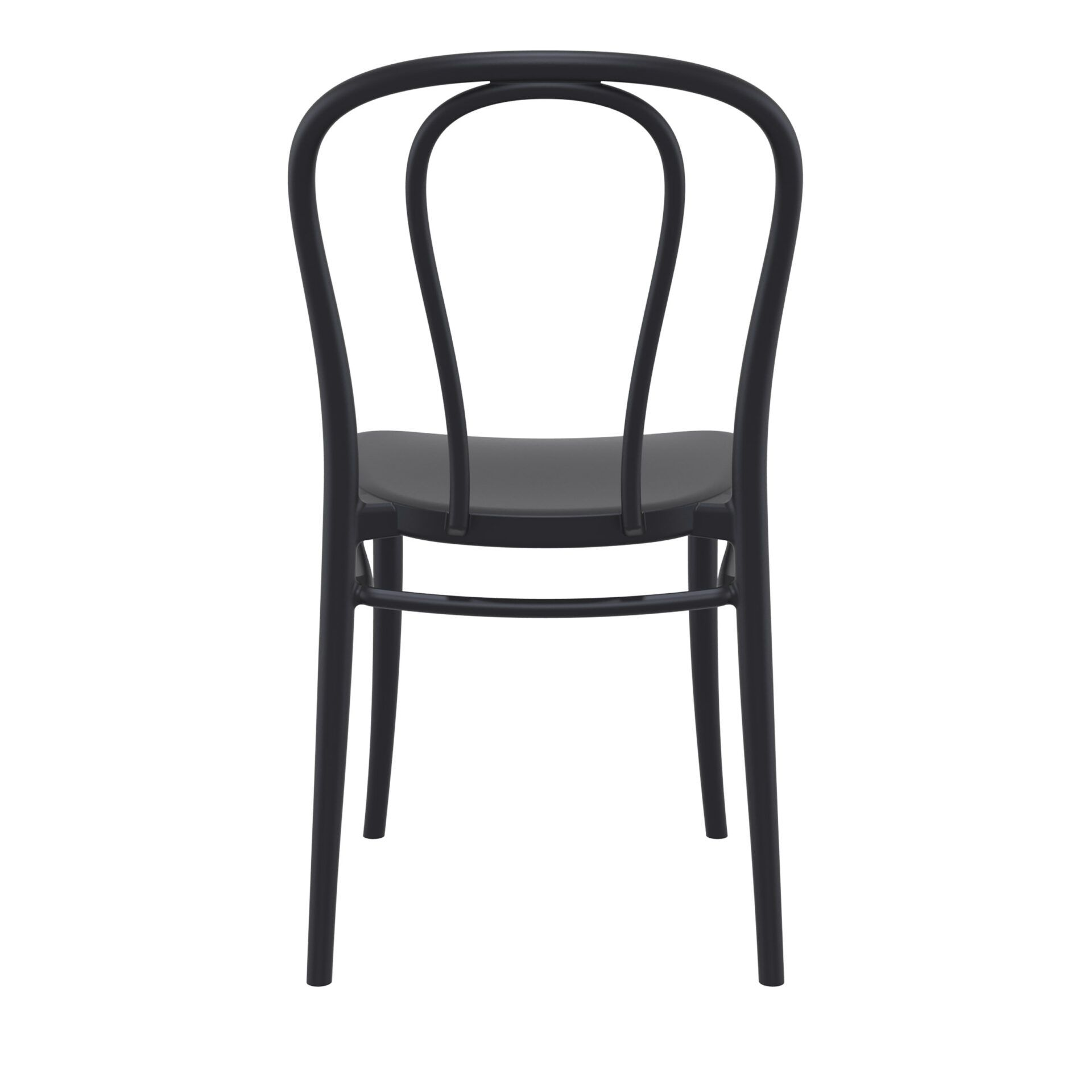 restaurant seating polypropylene victor chair black back