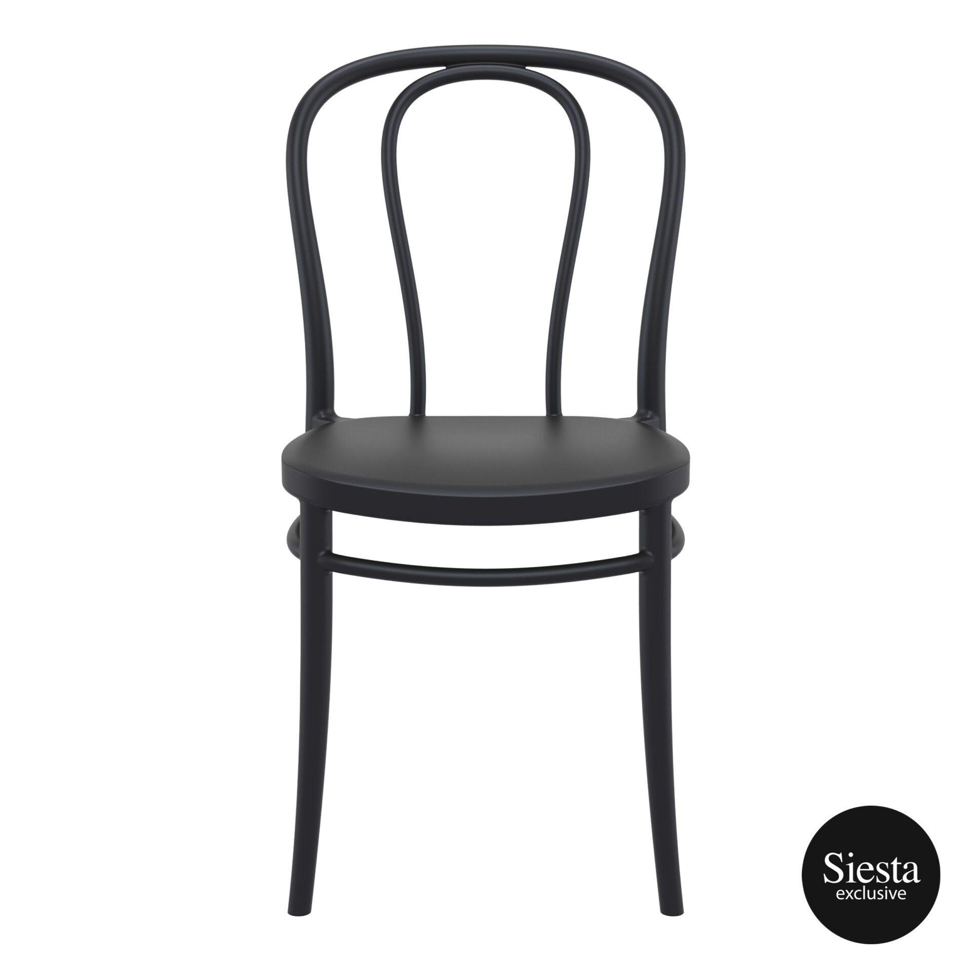restaurant seating polypropylene victor chair black front 1