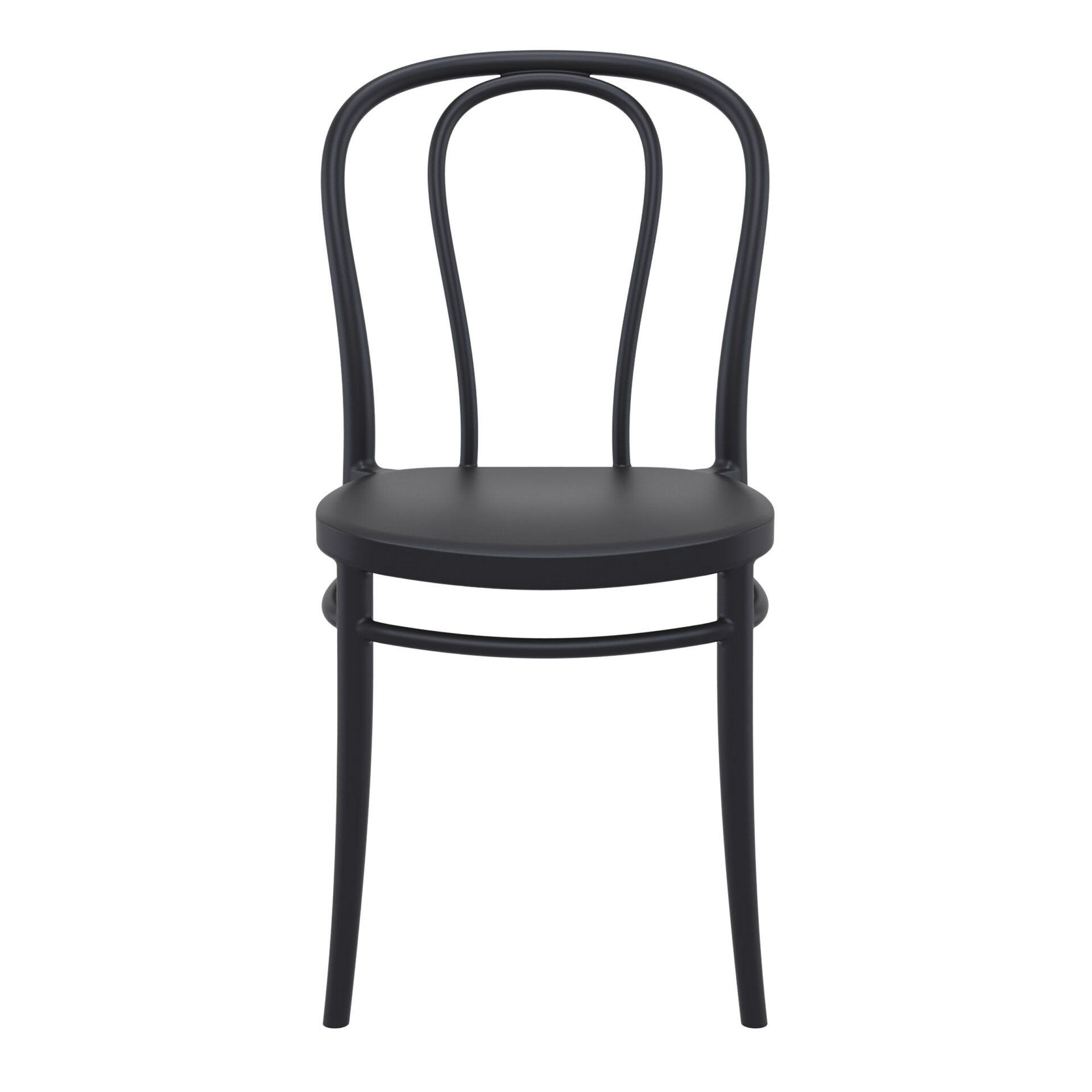 restaurant seating polypropylene victor chair black front