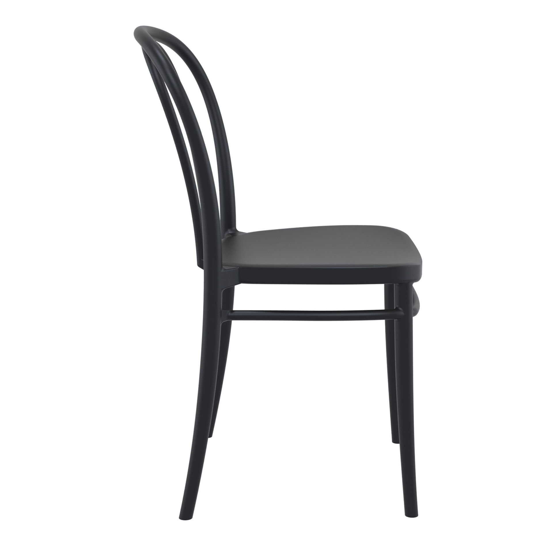 restaurant seating polypropylene victor chair black side