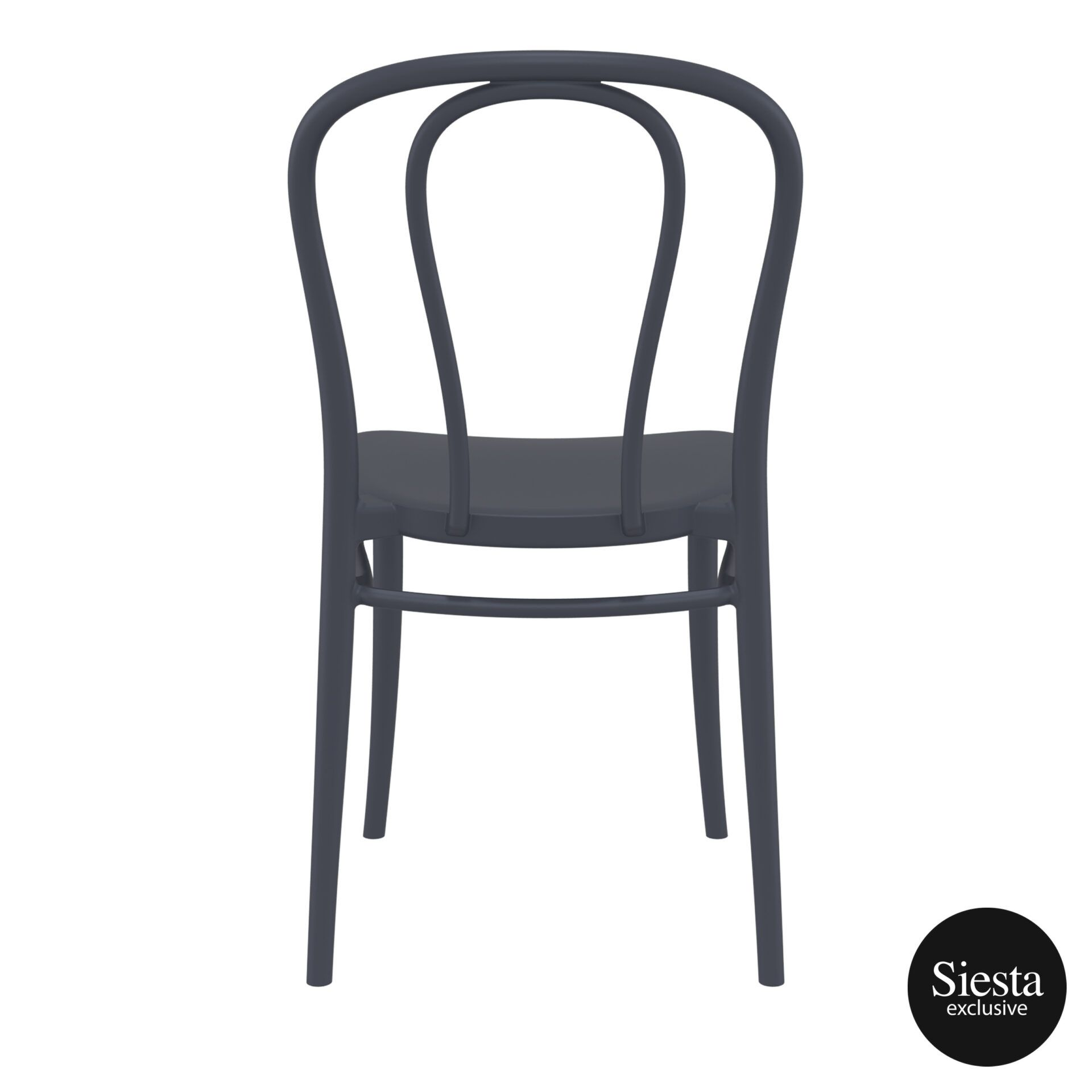 restaurant seating polypropylene victor chair darkgrey back 2