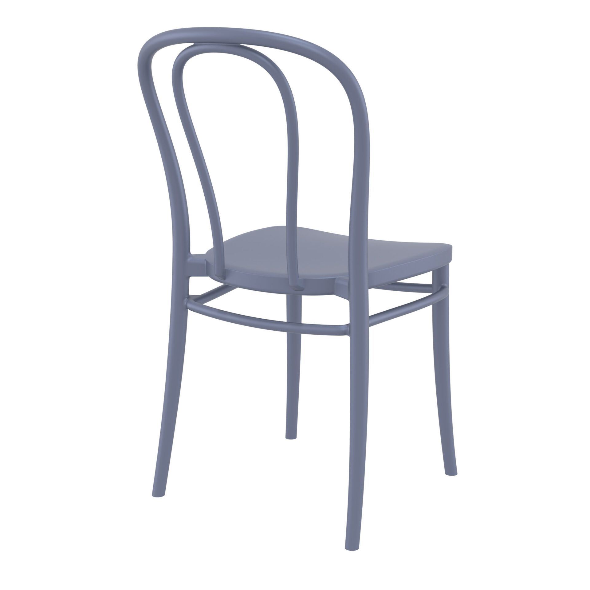 restaurant seating polypropylene victor chair darkgrey back side