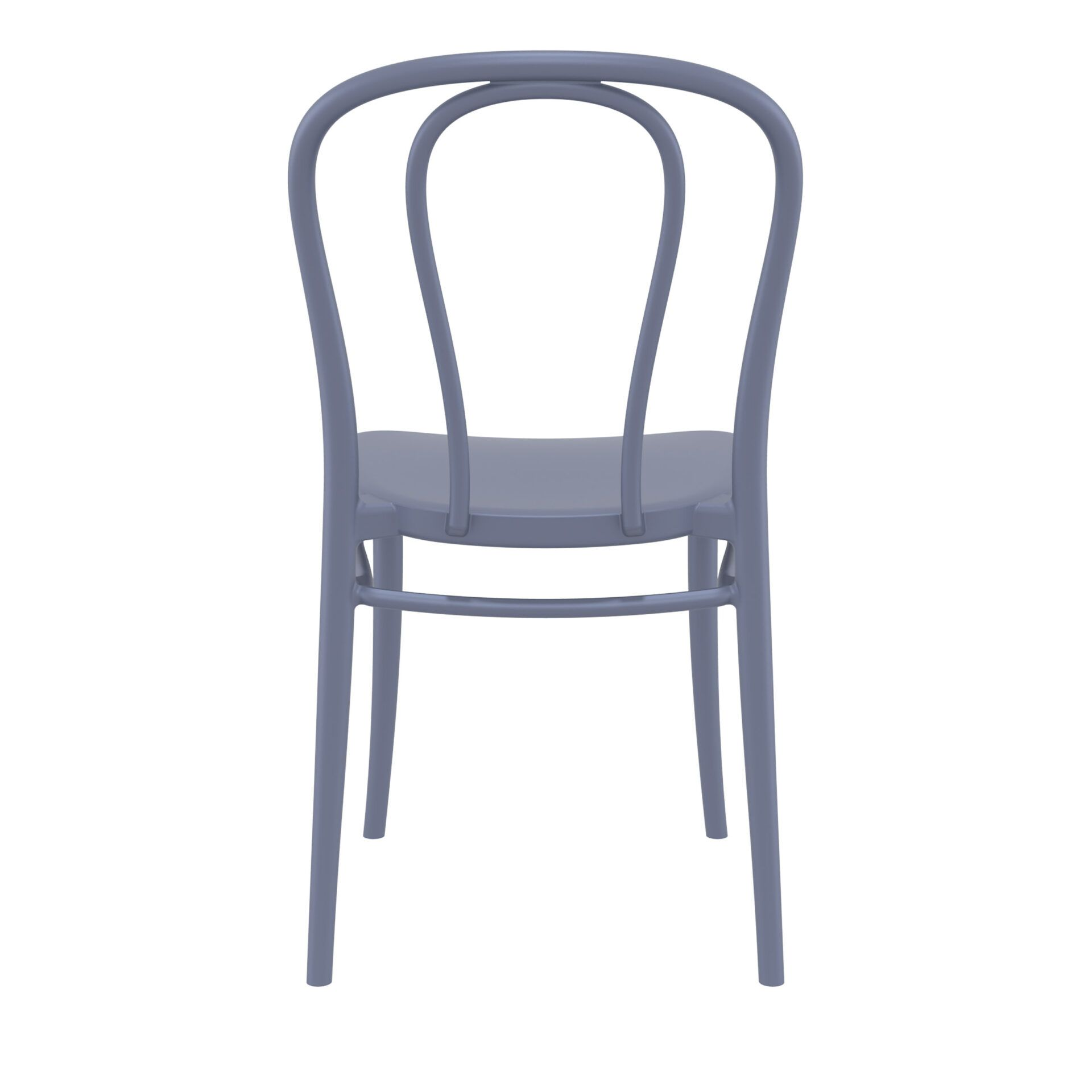 restaurant seating polypropylene victor chair darkgrey back