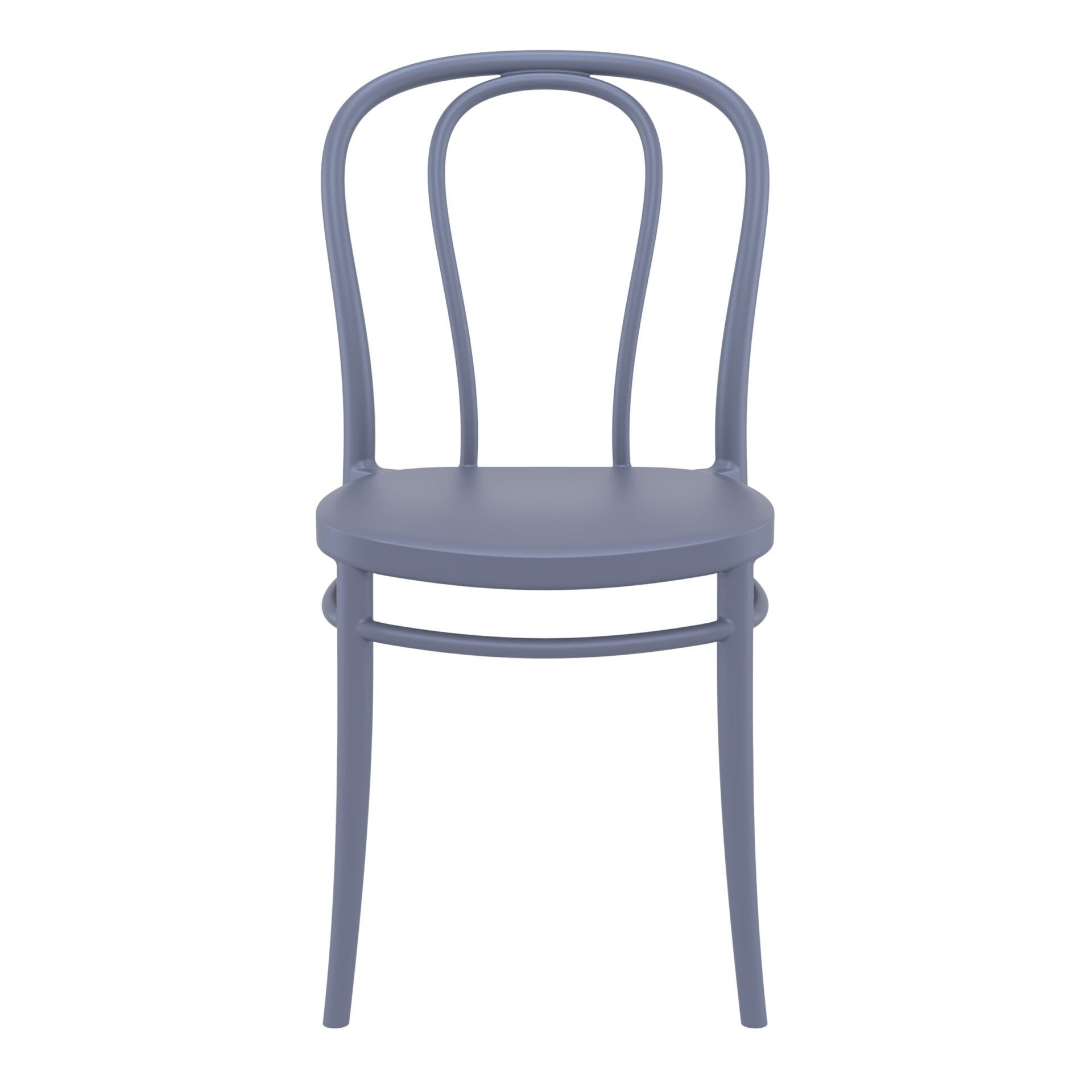 restaurant seating polypropylene victor chair darkgrey front