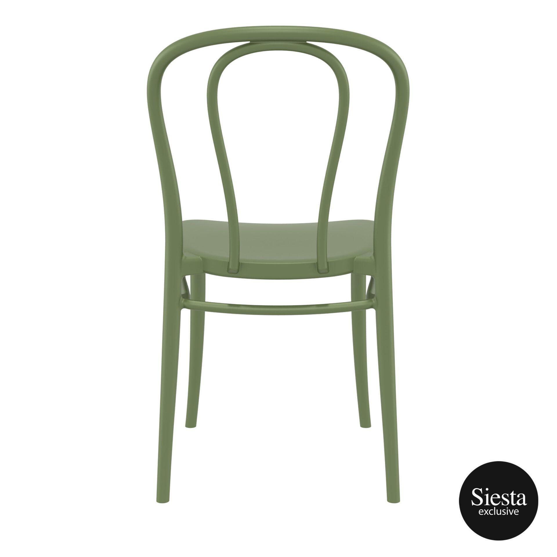 restaurant seating polypropylene victor chair olive green back 1